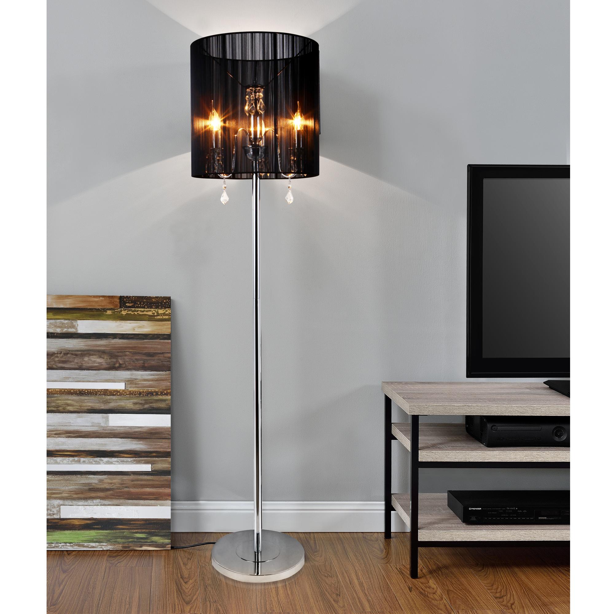 edel stehleuchte stehlampe lampe wohnzimmerlampe leuchte standleuchte kristall ebay. Black Bedroom Furniture Sets. Home Design Ideas