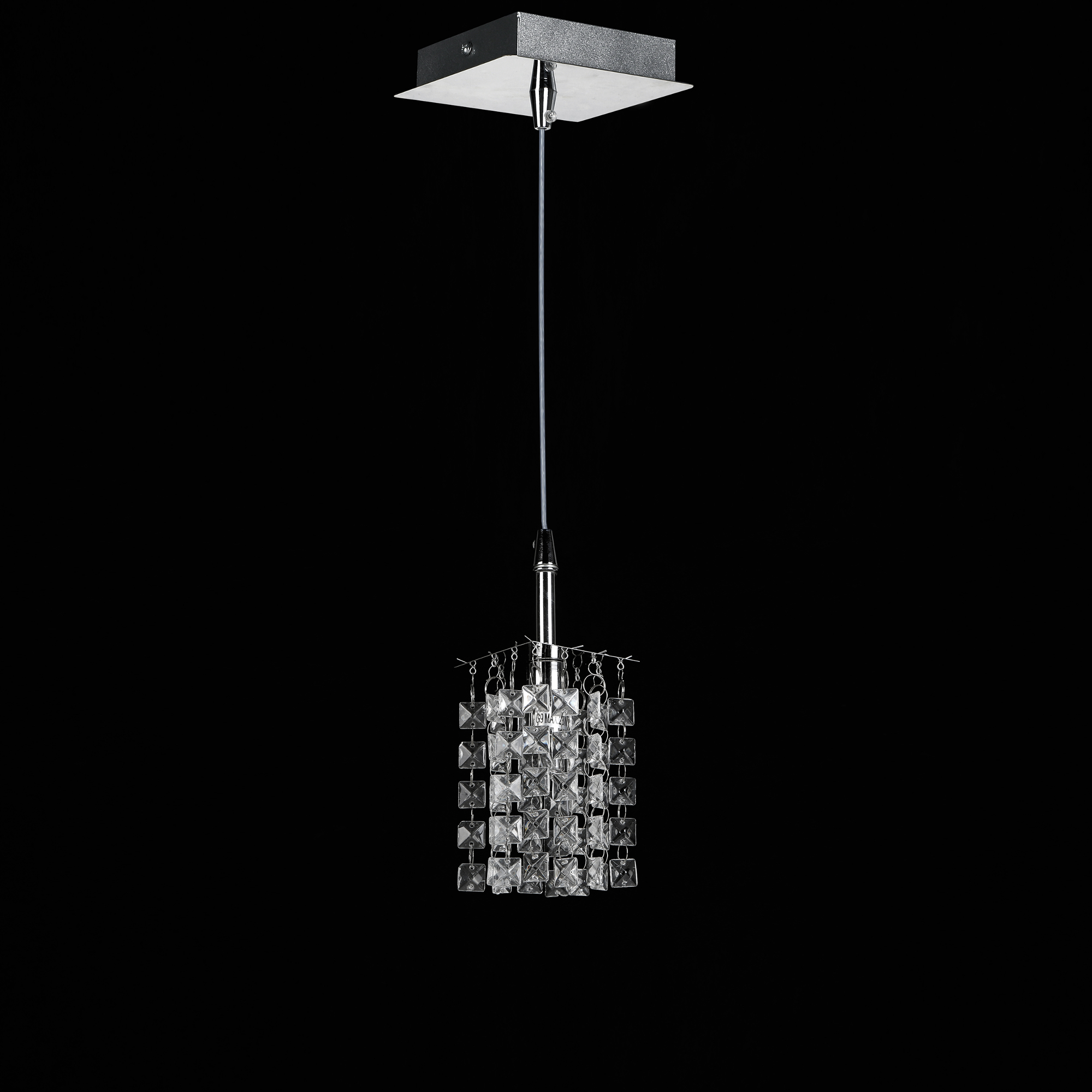 Crystal chandelier 38x38cm ceiling light room lamp chrome ebay - Ceiling crystal chandelier ...