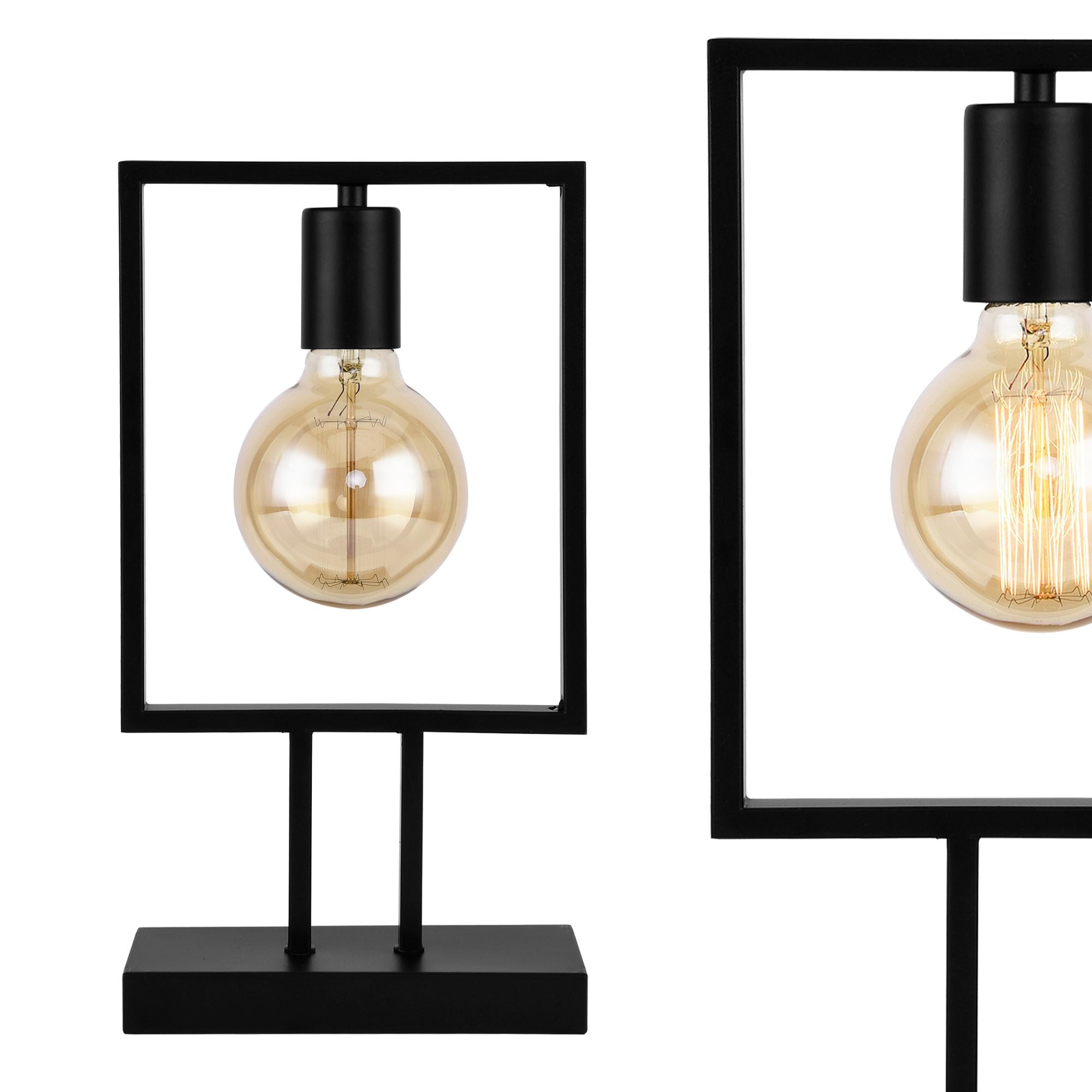 tischleuchte tischlampe lampe leuchte wohnzimmer nachttischlampe e27 4251155589131 ebay. Black Bedroom Furniture Sets. Home Design Ideas