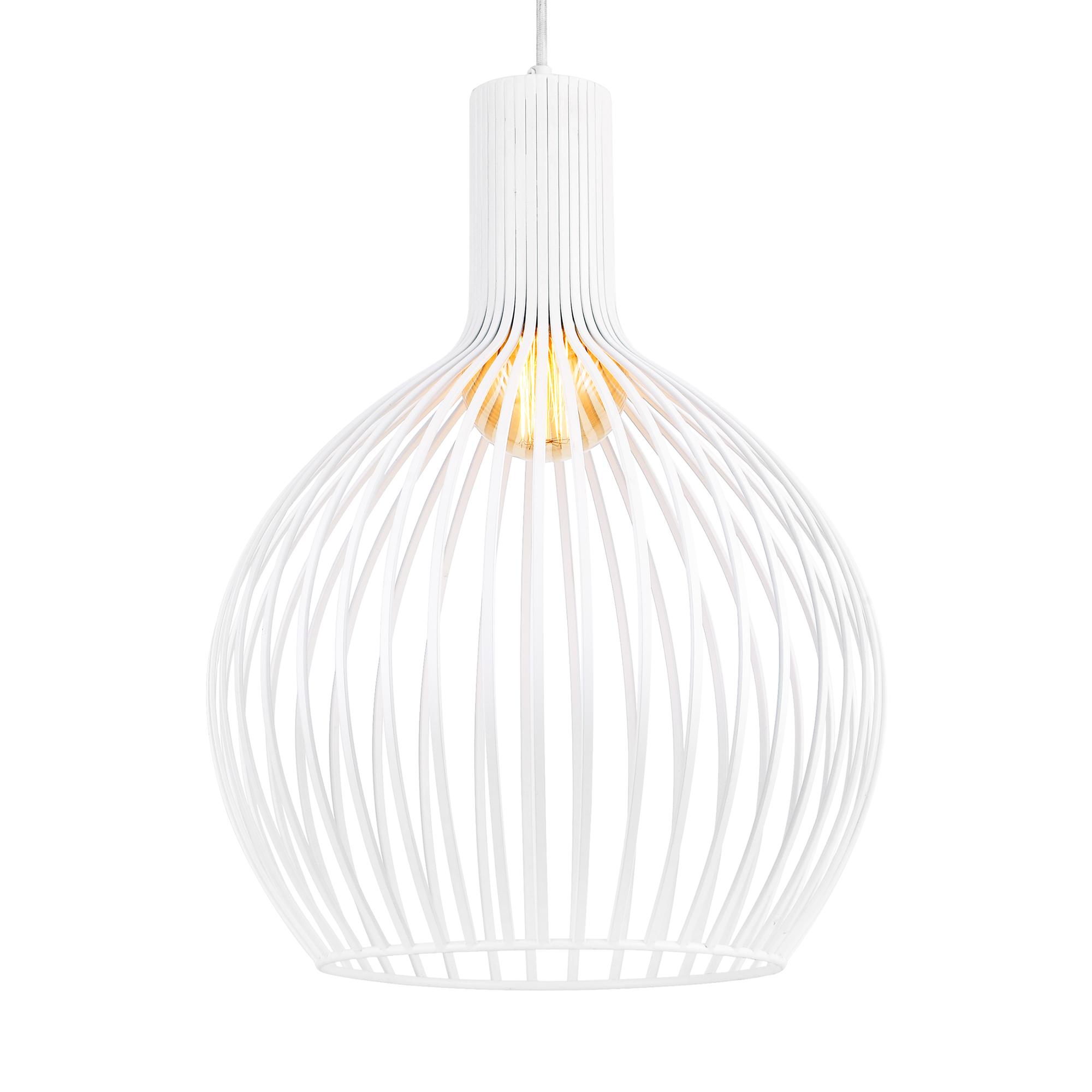 ® Hängeleuchte Metall Weiß Deckenleuchte Leuchte Pendelleuchte Design lux.pro