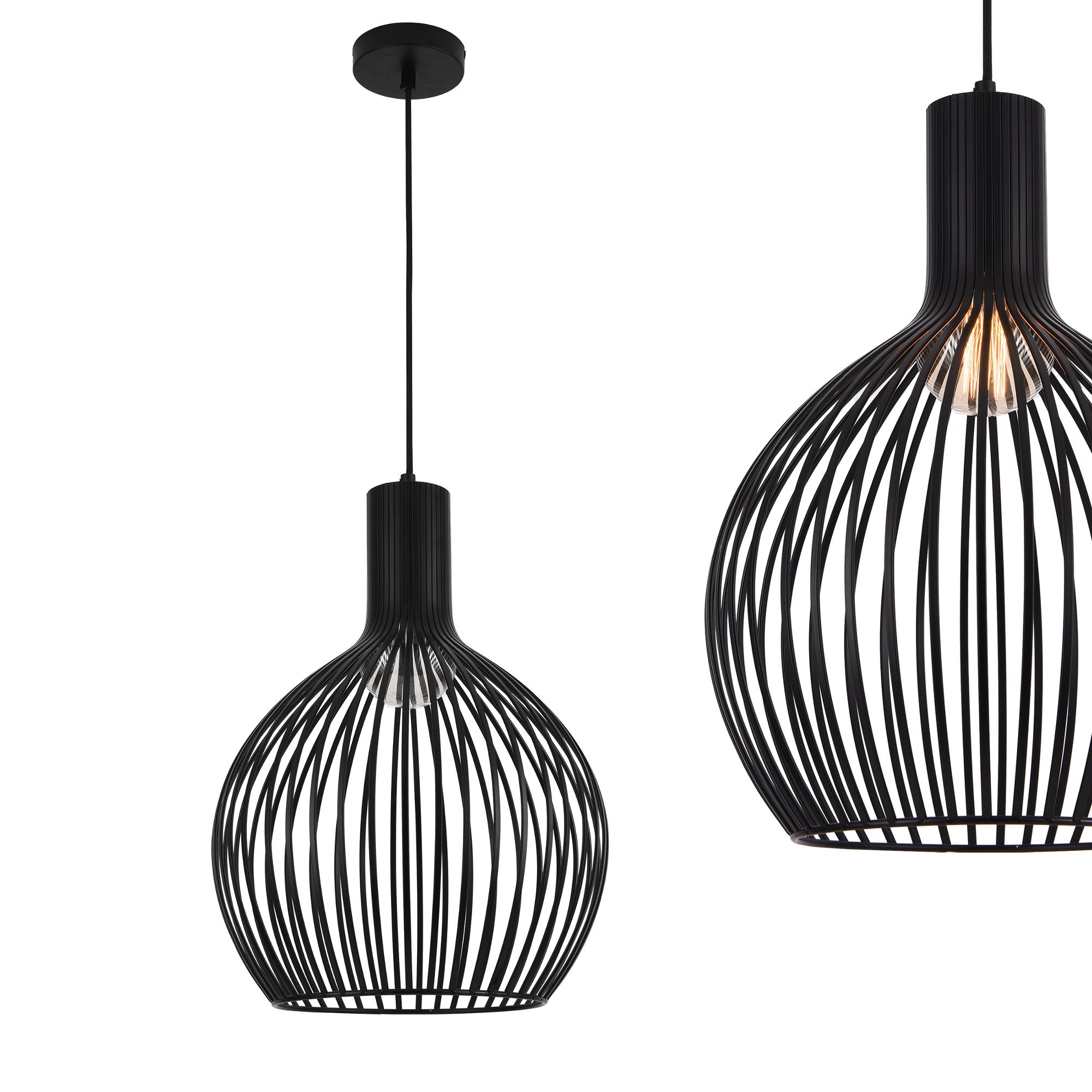 design h ngeleuchte metall schwarz deckenleuchte leuchte pendelleuchte ebay. Black Bedroom Furniture Sets. Home Design Ideas