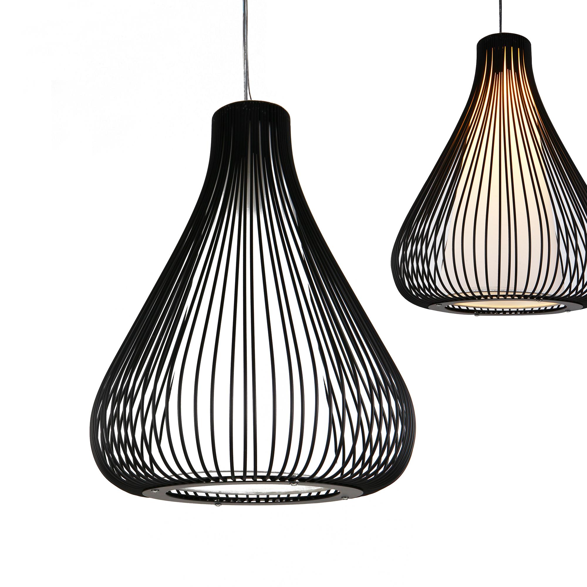 Lux.Pro]® Hängeleuchte Schwarz Deckenleuchte Hängelampe Design ...