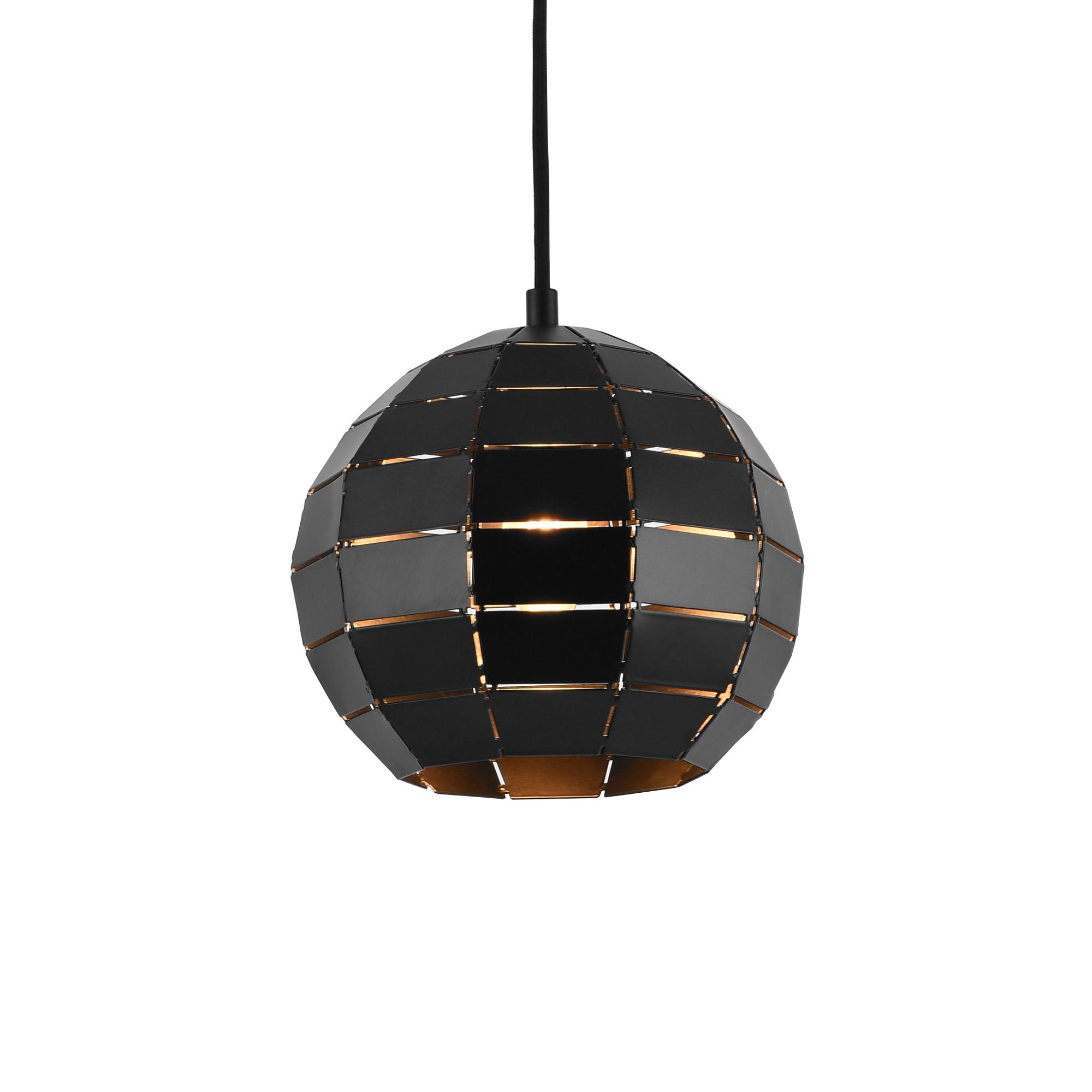 Détails sur [lux.pro]® Lampe à suspension métal noir Plafonnier lumière  Lampe boule