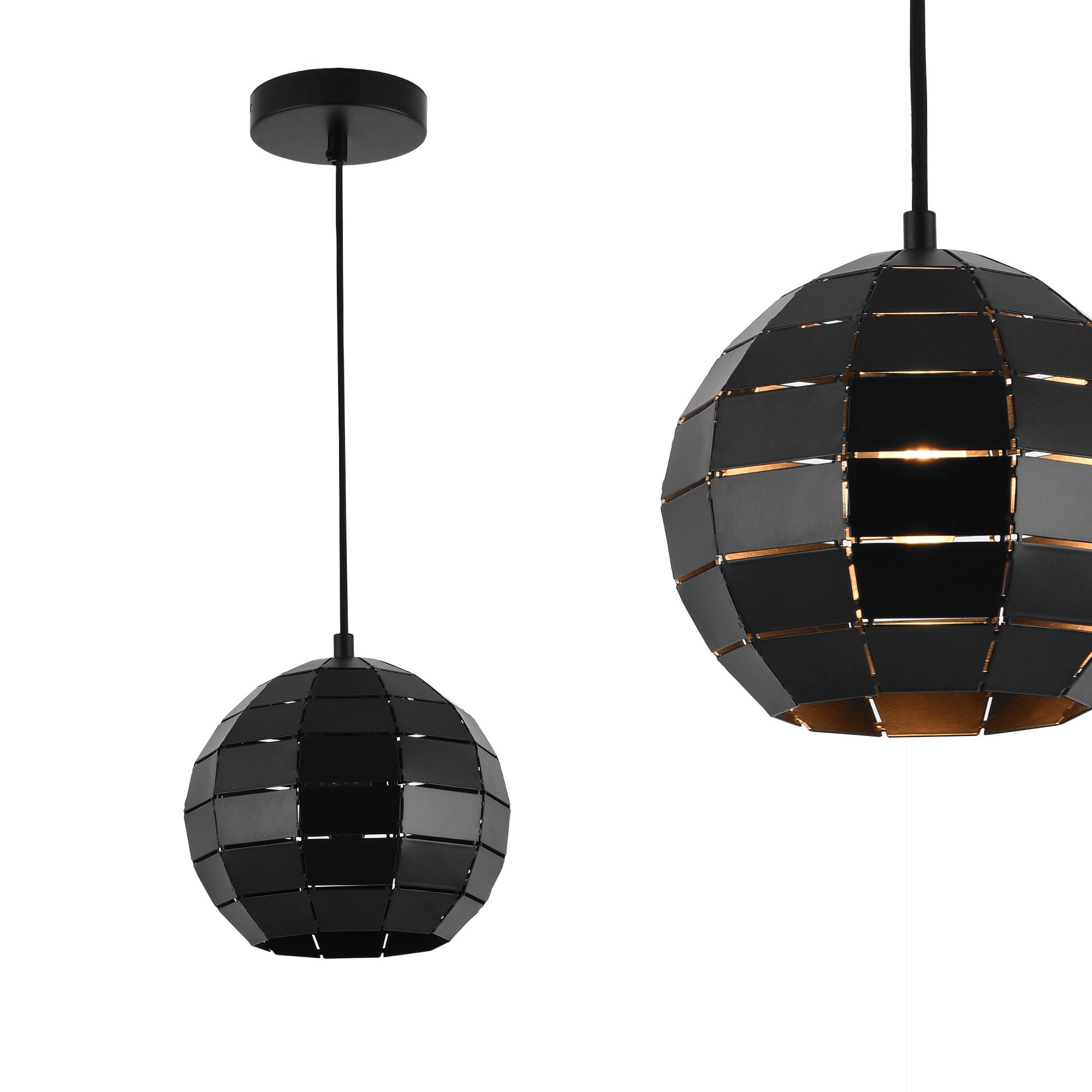 h ngeleuchte metall schwarz deckenleuchte. Black Bedroom Furniture Sets. Home Design Ideas