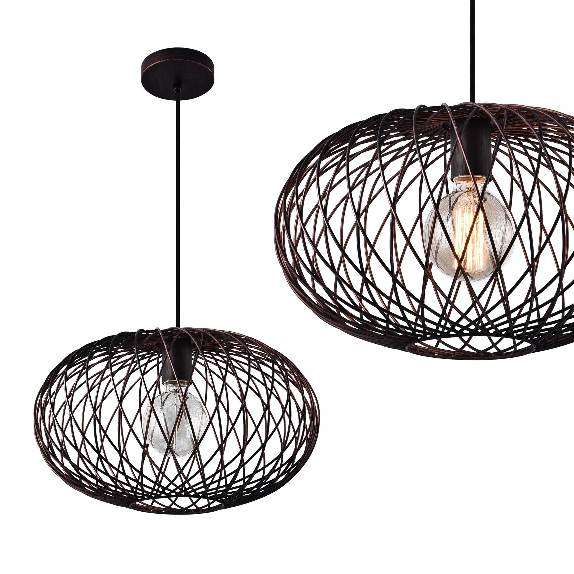 [lux.pro]® Dekoratívní designové závěsné svítidlo / stropní svítidlo - bronz (1 x E27)