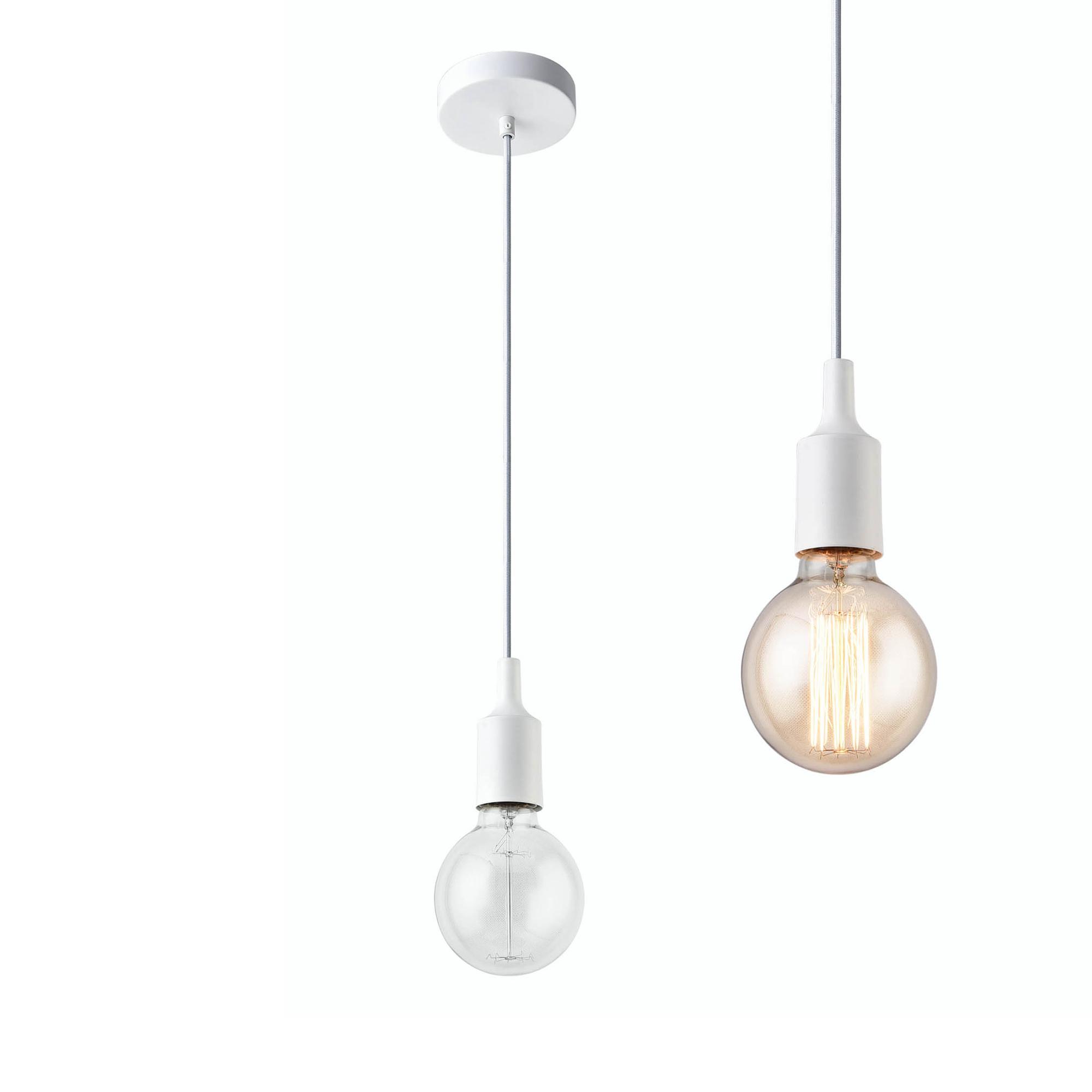 [lux.pro]® Dekoratívní designové závěsné svítidlo / stropní svítidlo - bílé (1 x E27)
