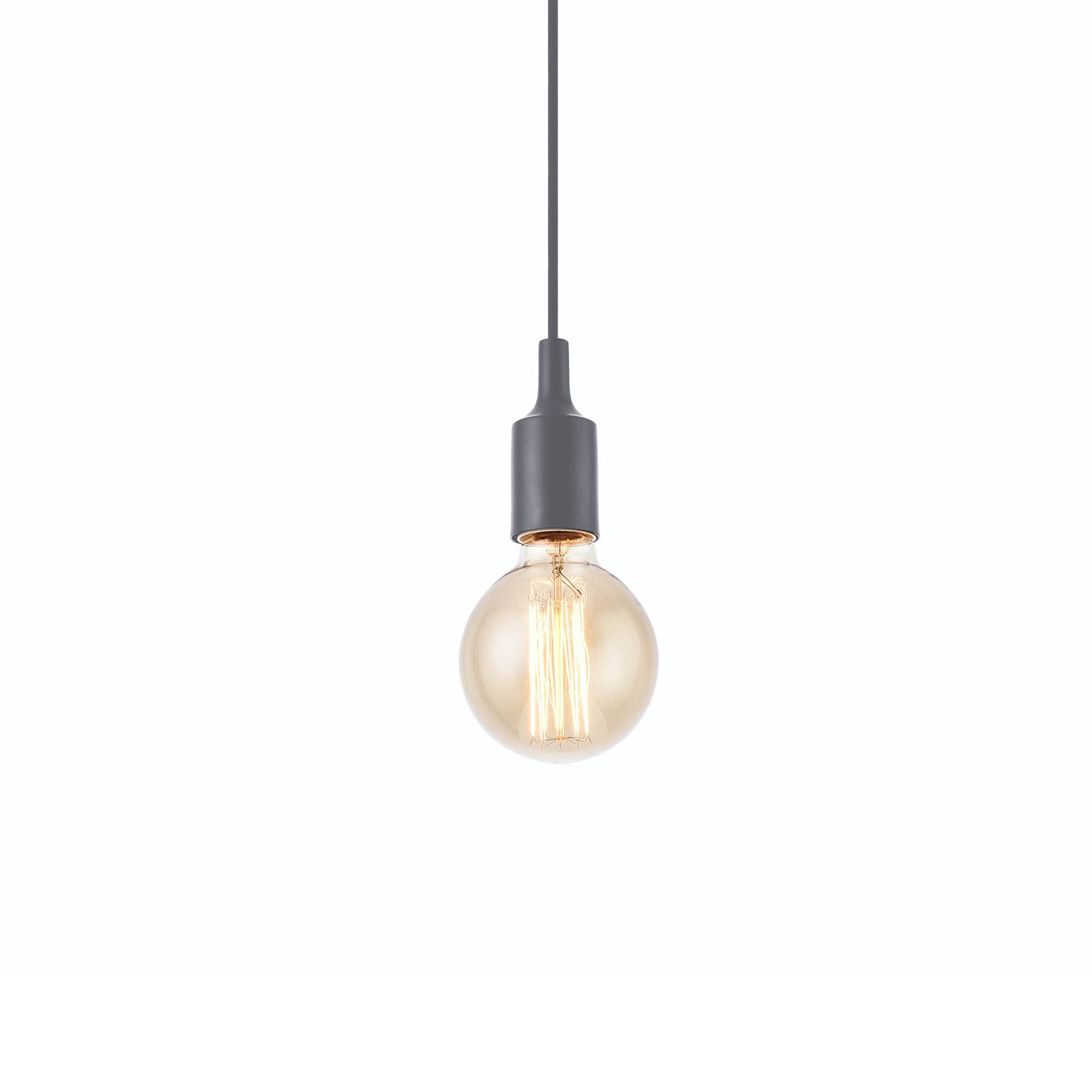 lux pro h ngeleuchte lampenfassung deckenleuchte grau retro pendelleuchte ebay. Black Bedroom Furniture Sets. Home Design Ideas