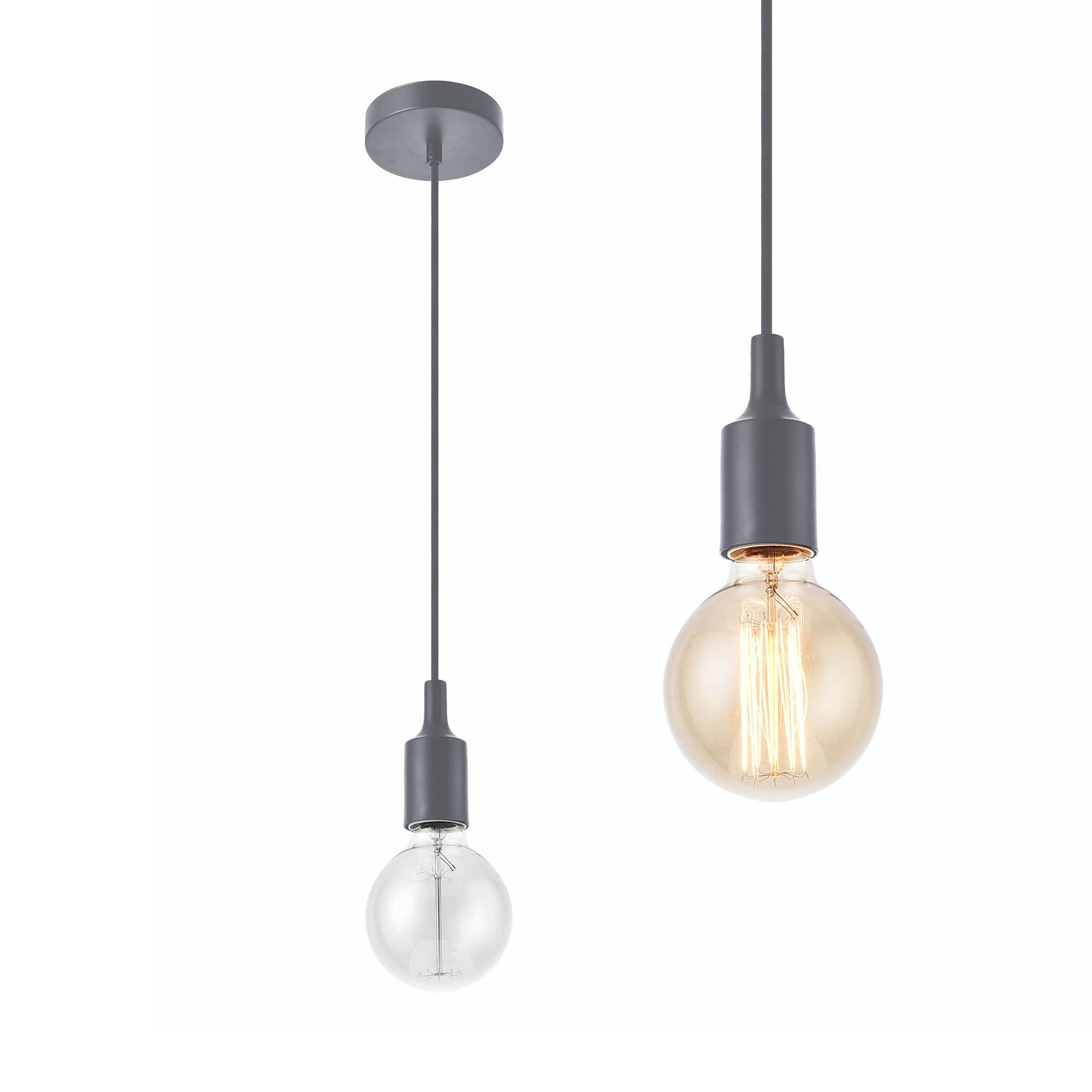 [lux.pro]® Dekoratívní designové závěsné svítidlo / stropní svítidlo - šedé (1 x E27)