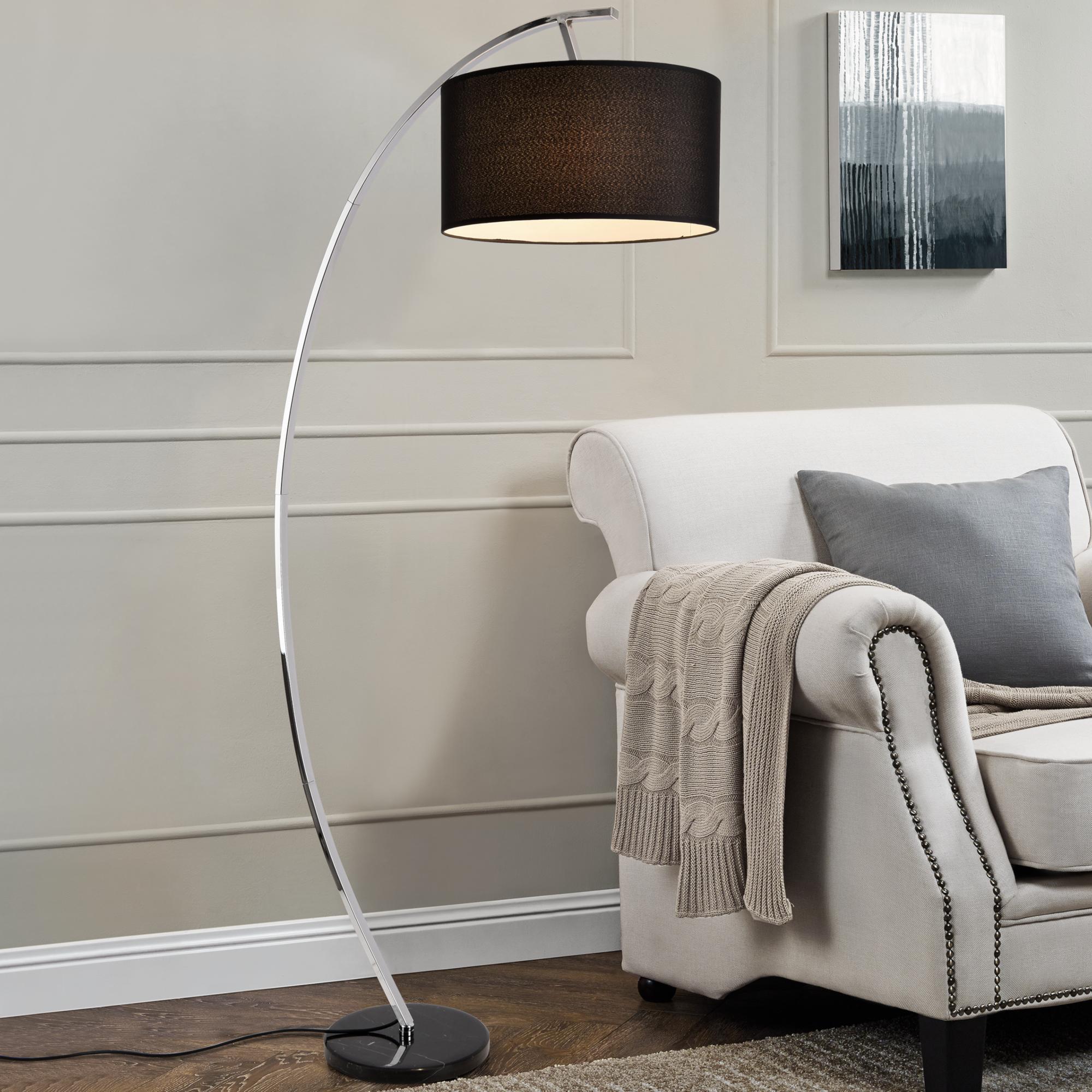 Stehleuchte 153cm Bogenlampe Stehlampe Standleuchte Bogen Stand