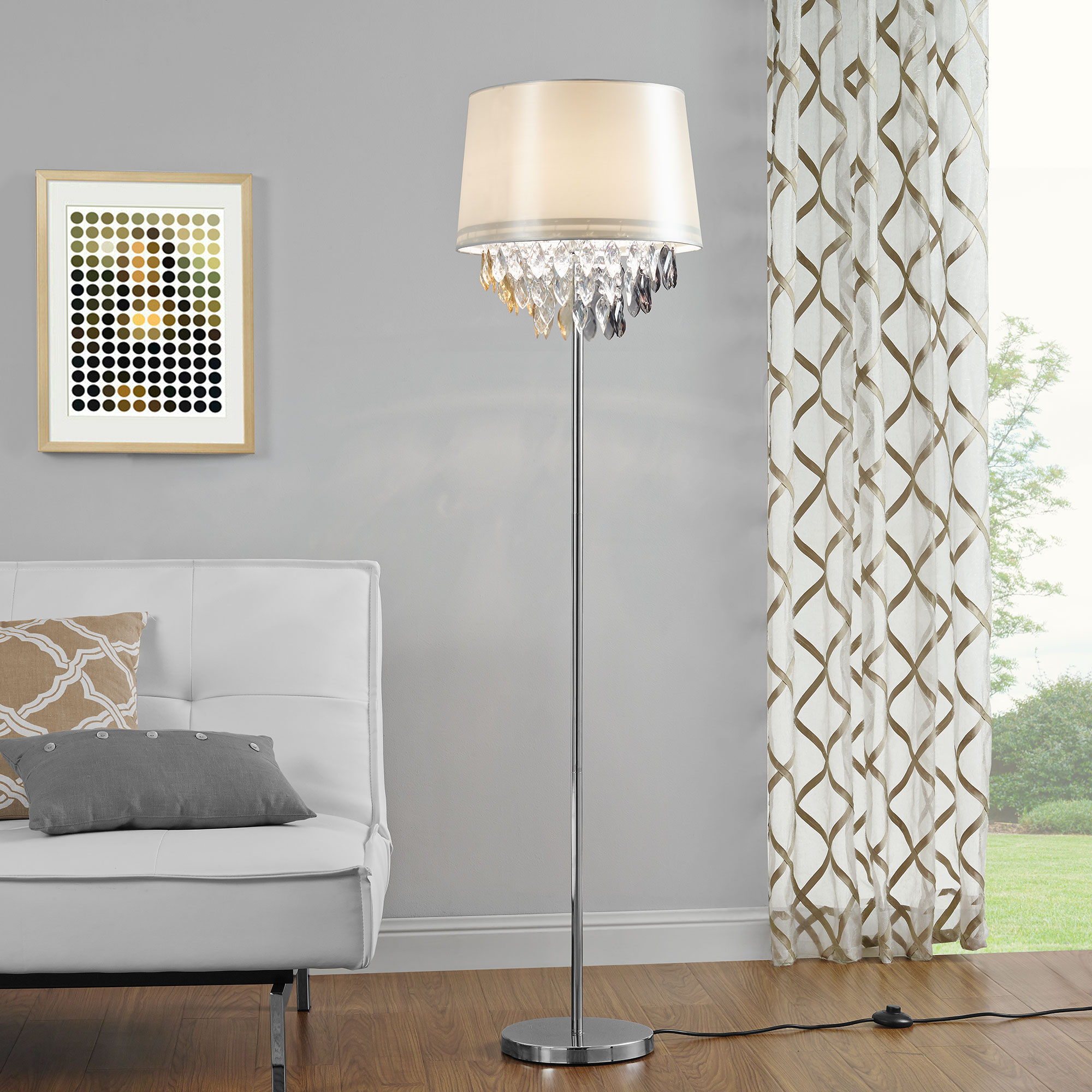 Nobile lampada da terra lampada piantana lampada salotto for Lampada salotto