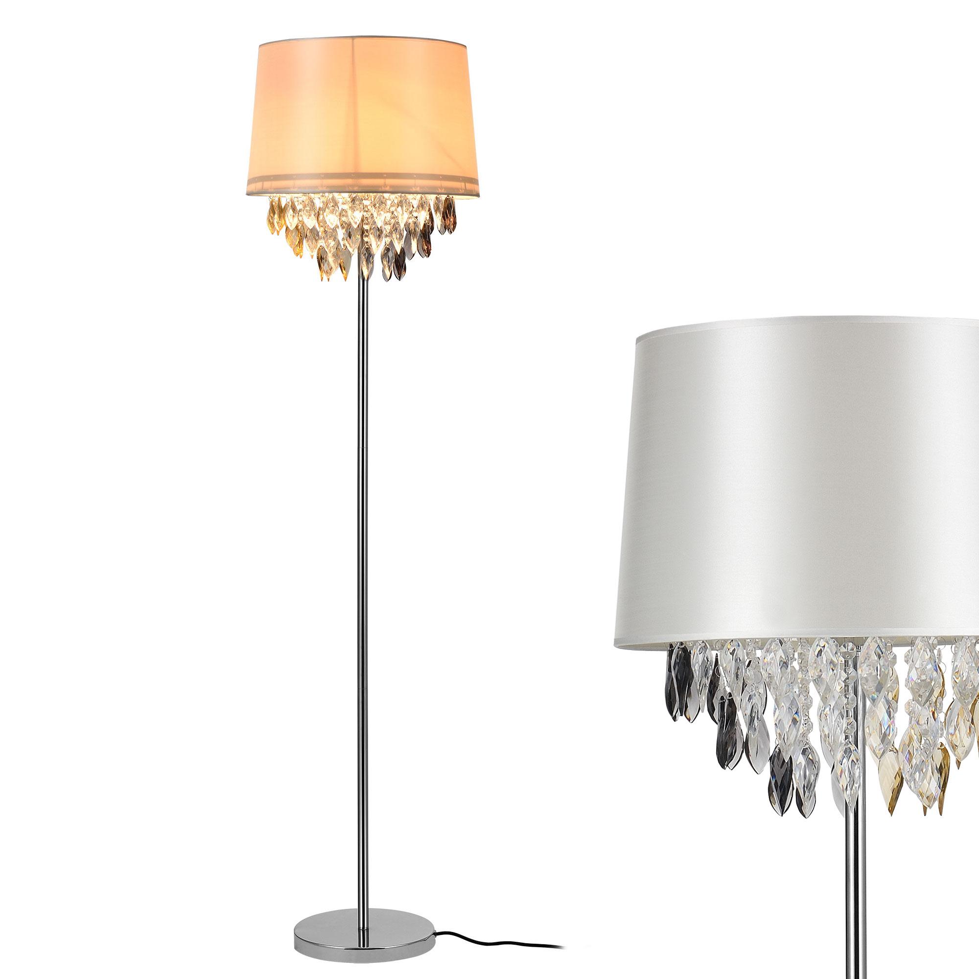 luxpro stehleuchte stehlampe lampe wohnzimmerlampe leuchte standleuchte kristall ebay. Black Bedroom Furniture Sets. Home Design Ideas