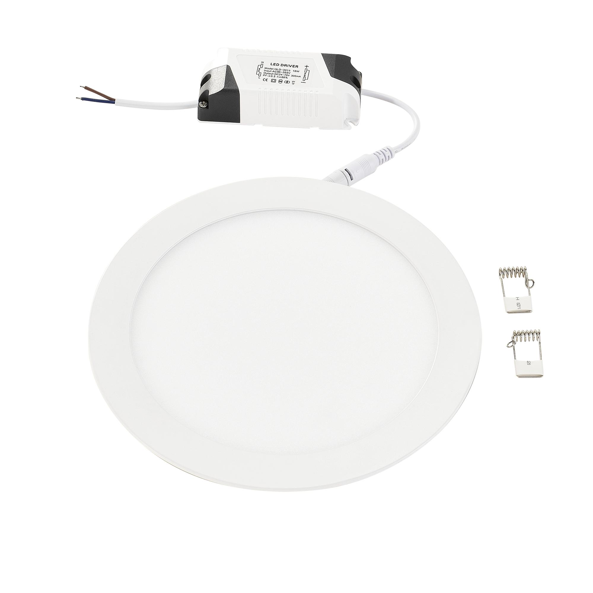 [lux.pro]® LED panel HLD-3010 - 18W - Ø 23 cm - teplá bílá