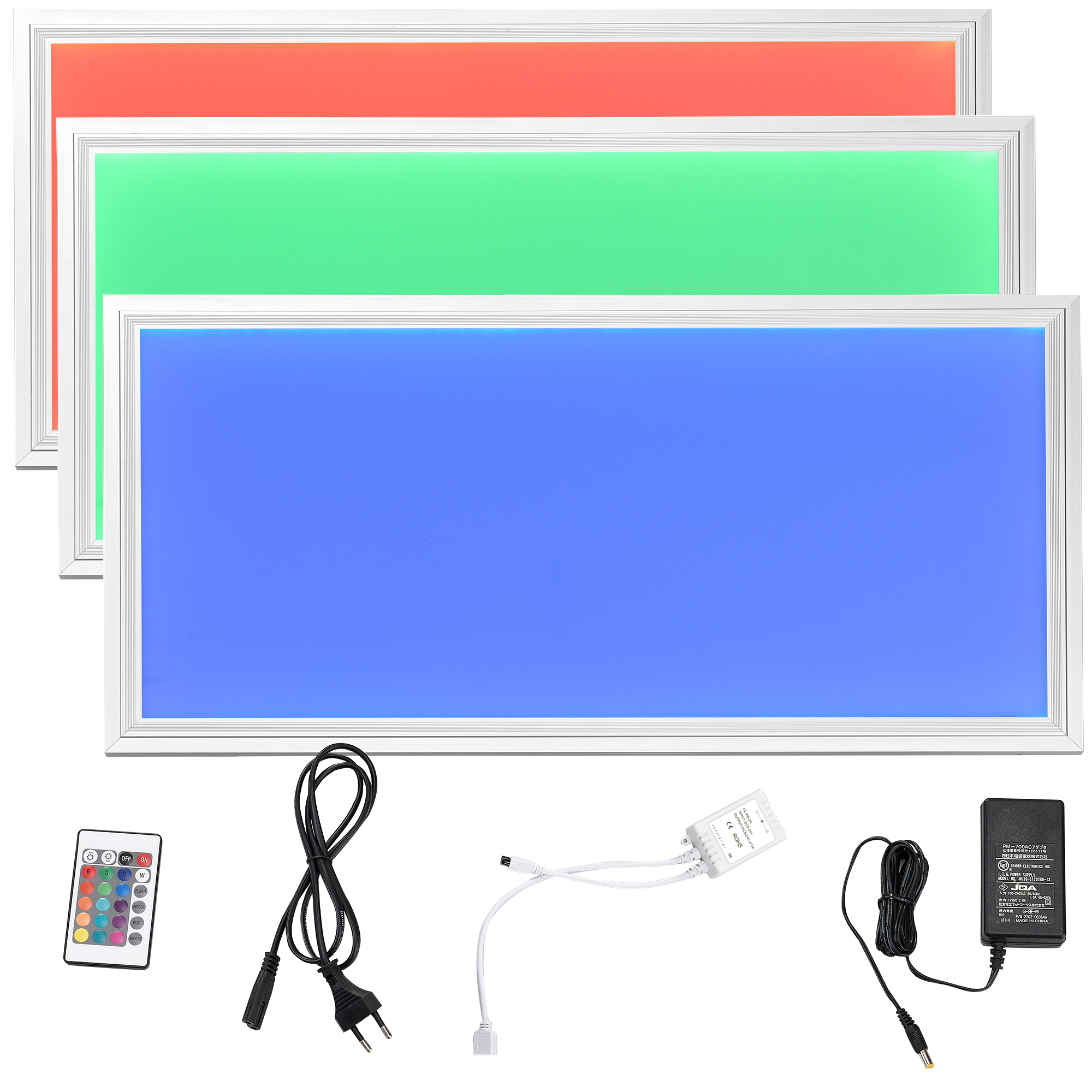 led rgb panel 62x62cm ultraslim farbwechsel fernbedienung dimmbar ebay. Black Bedroom Furniture Sets. Home Design Ideas