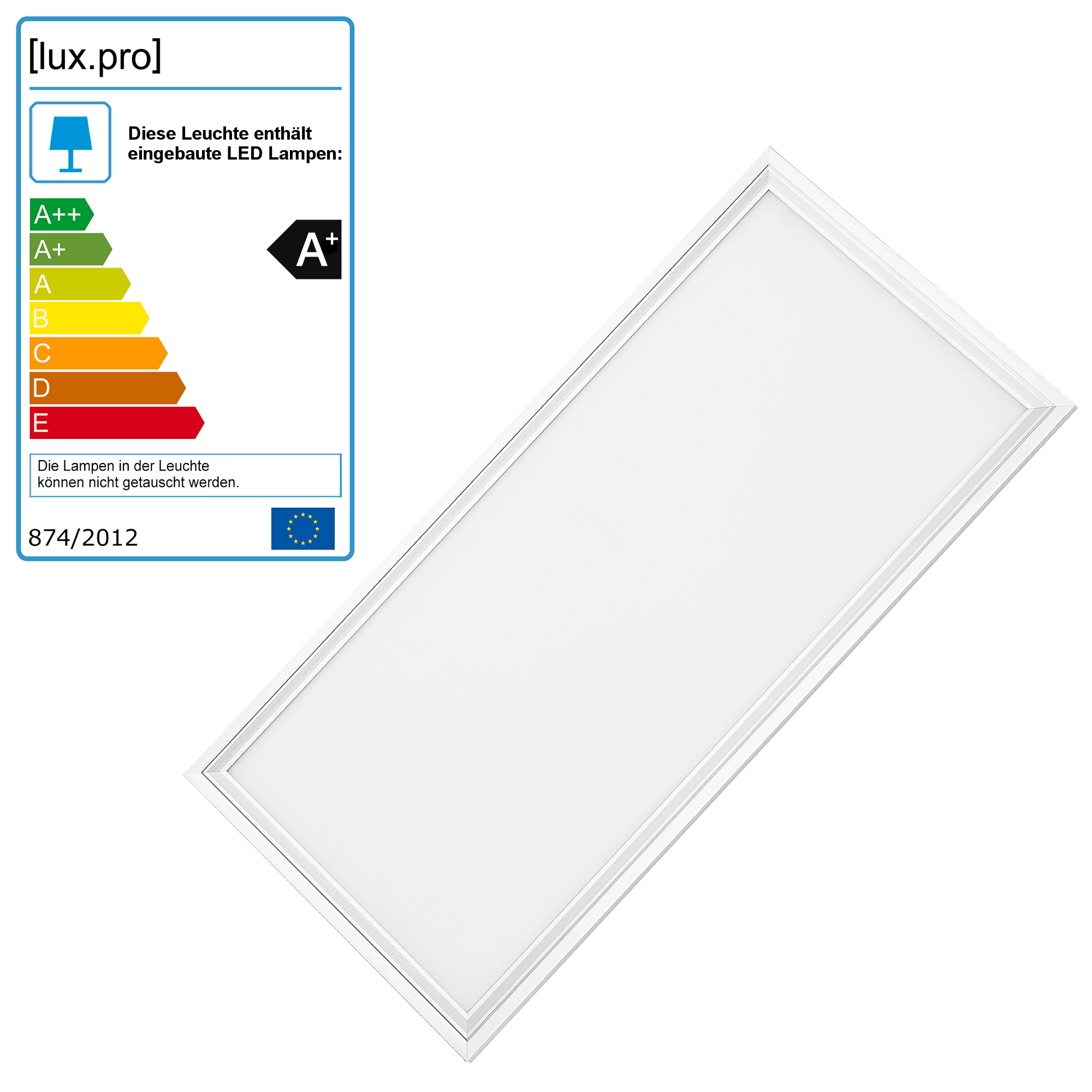 LED-Panel_HLD5502_weiss Wunderbar Led Panel Rgb Dimmbar Dekorationen