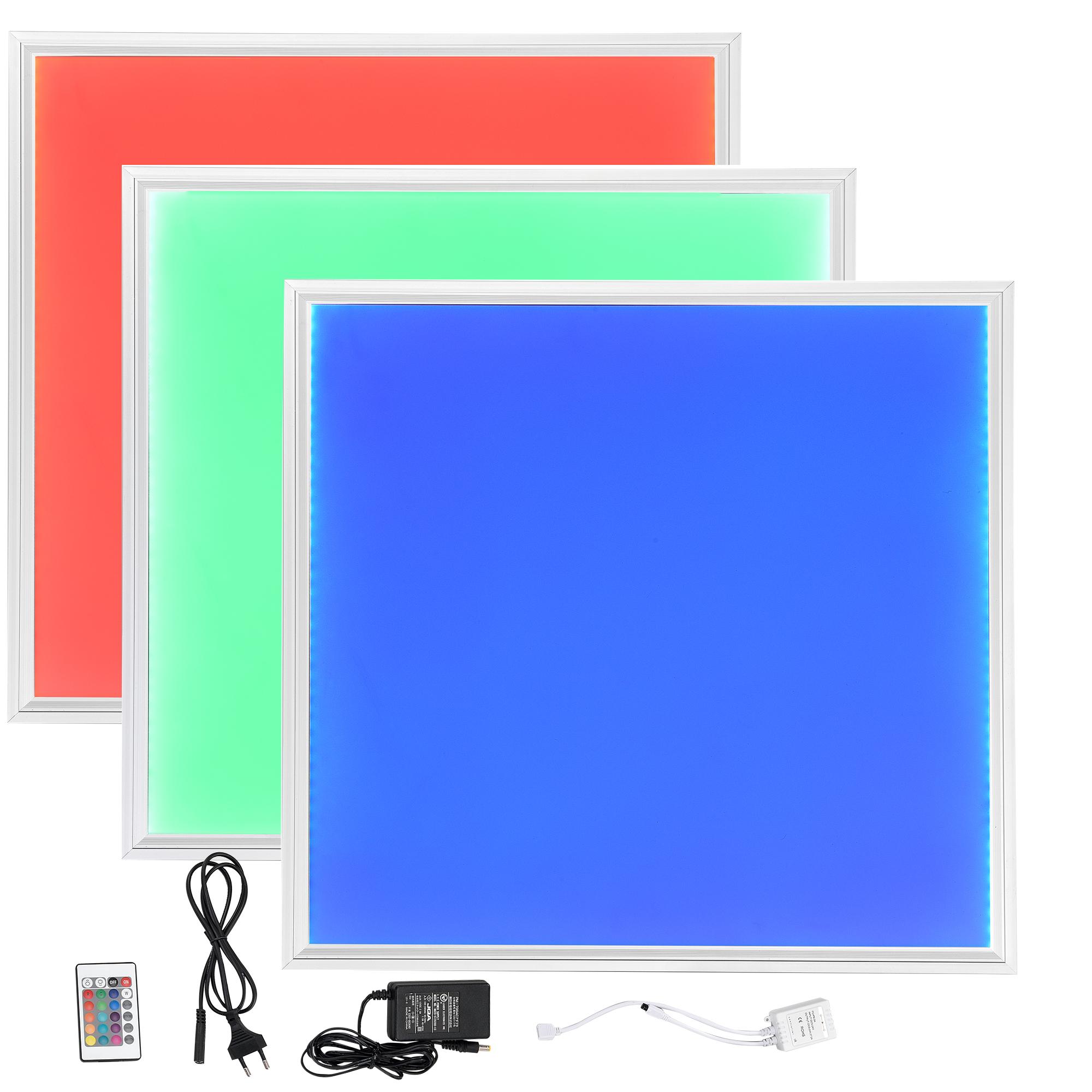 led rgb panel 62x62cm ultraslim farbwechsel fernbedienung dimmbar ebay. Black Bedroom Furniture Sets. Home Design Ideas