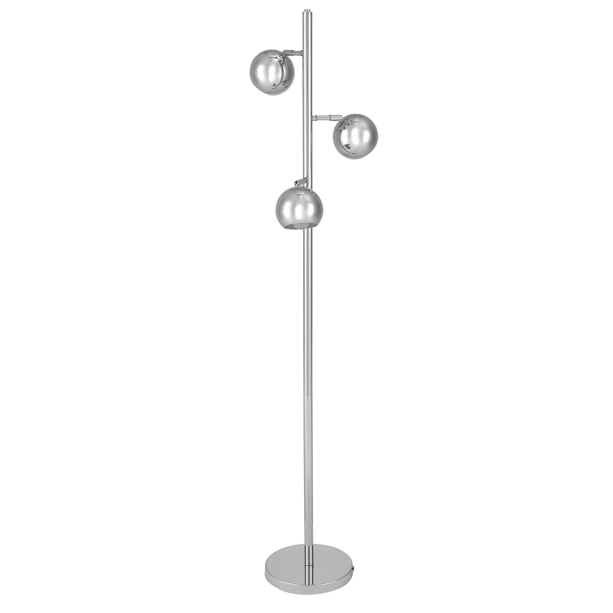 [lux.pro]® Lampa de podea eleganta – Trispot 3 x E 14 – 60W – crom