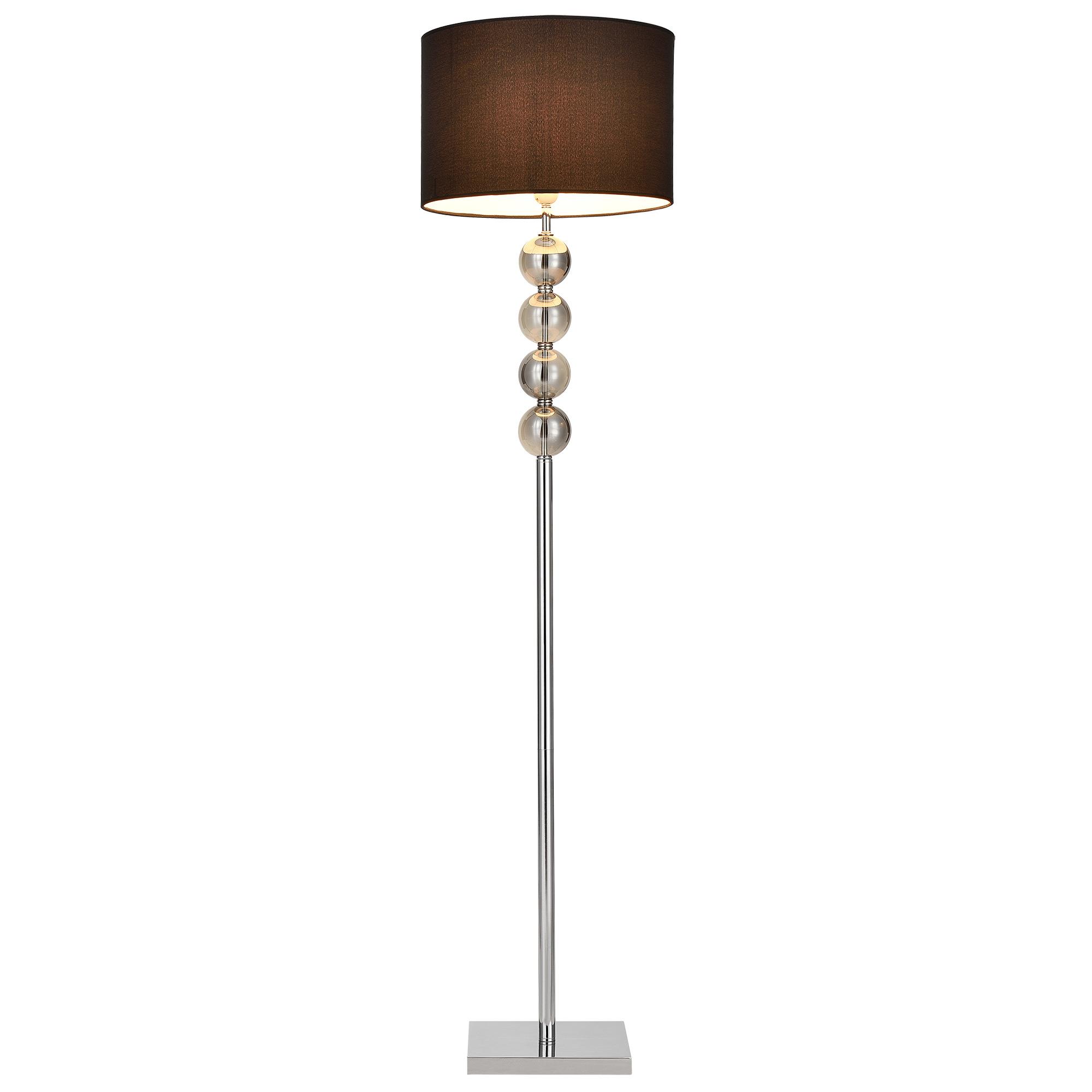 [lux.pro]® Lampa de podea eleganta – Spheridern 1 x E 27 – 60W – crom /negru