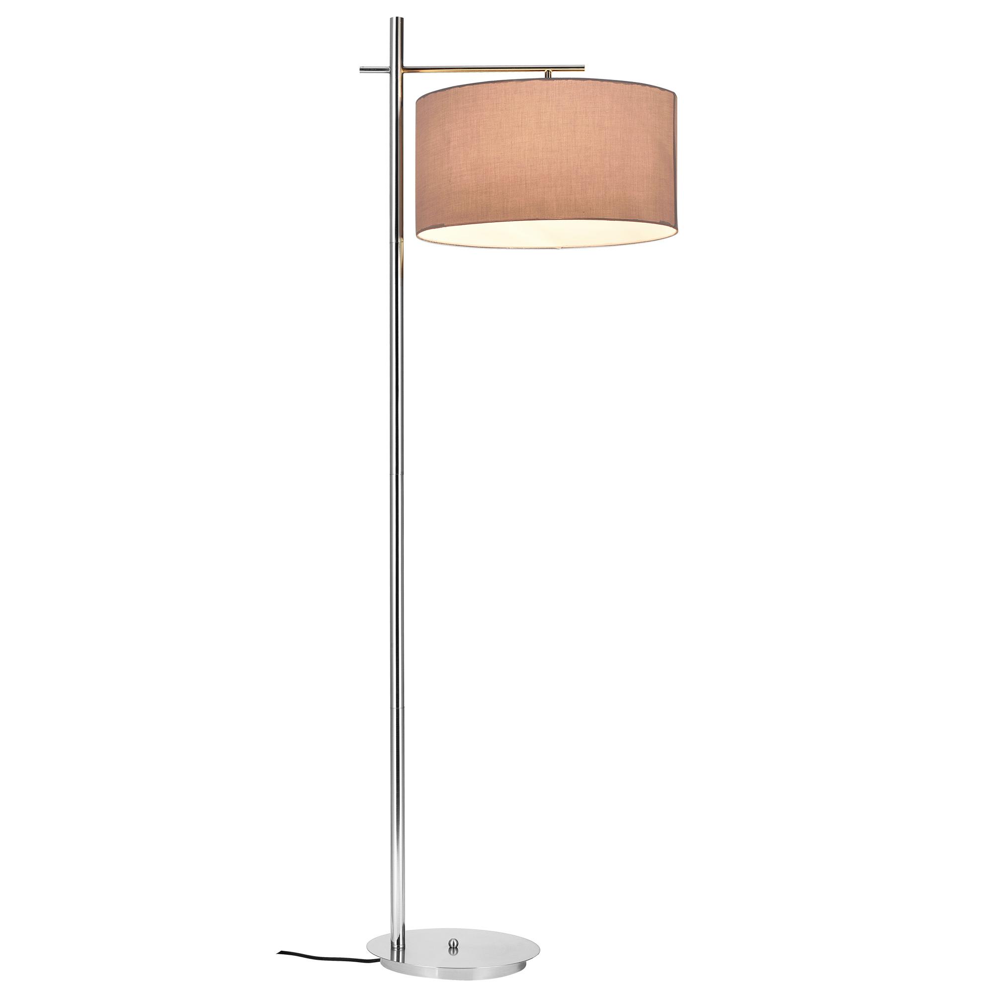 [lux.pro]® Lampa de podea eleganta – London 1 x E 27 – 60W – gri / crom