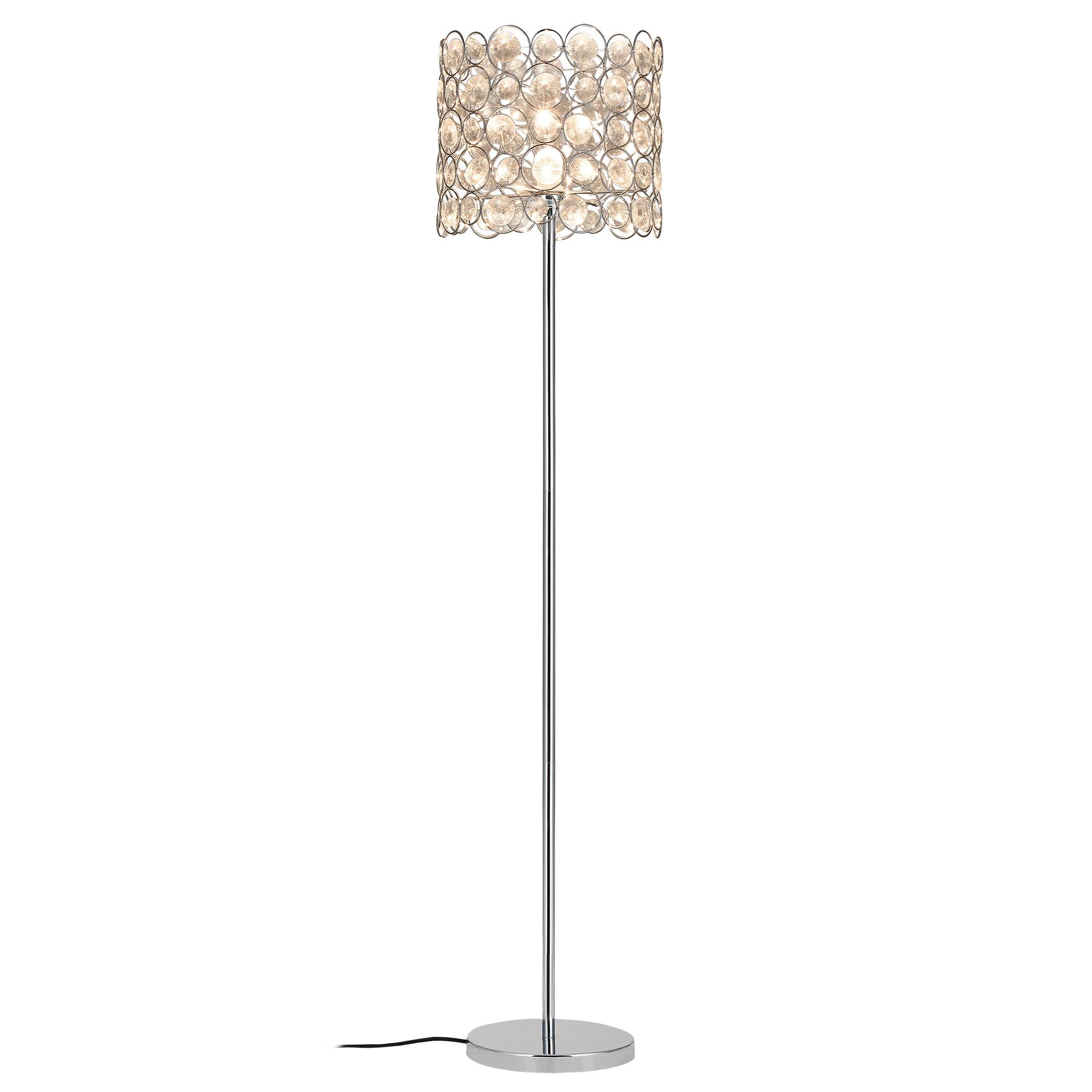 [lux.pro]® Lampa de podea eleganta – CrystalTree 1 x E 27 – 60W – crom