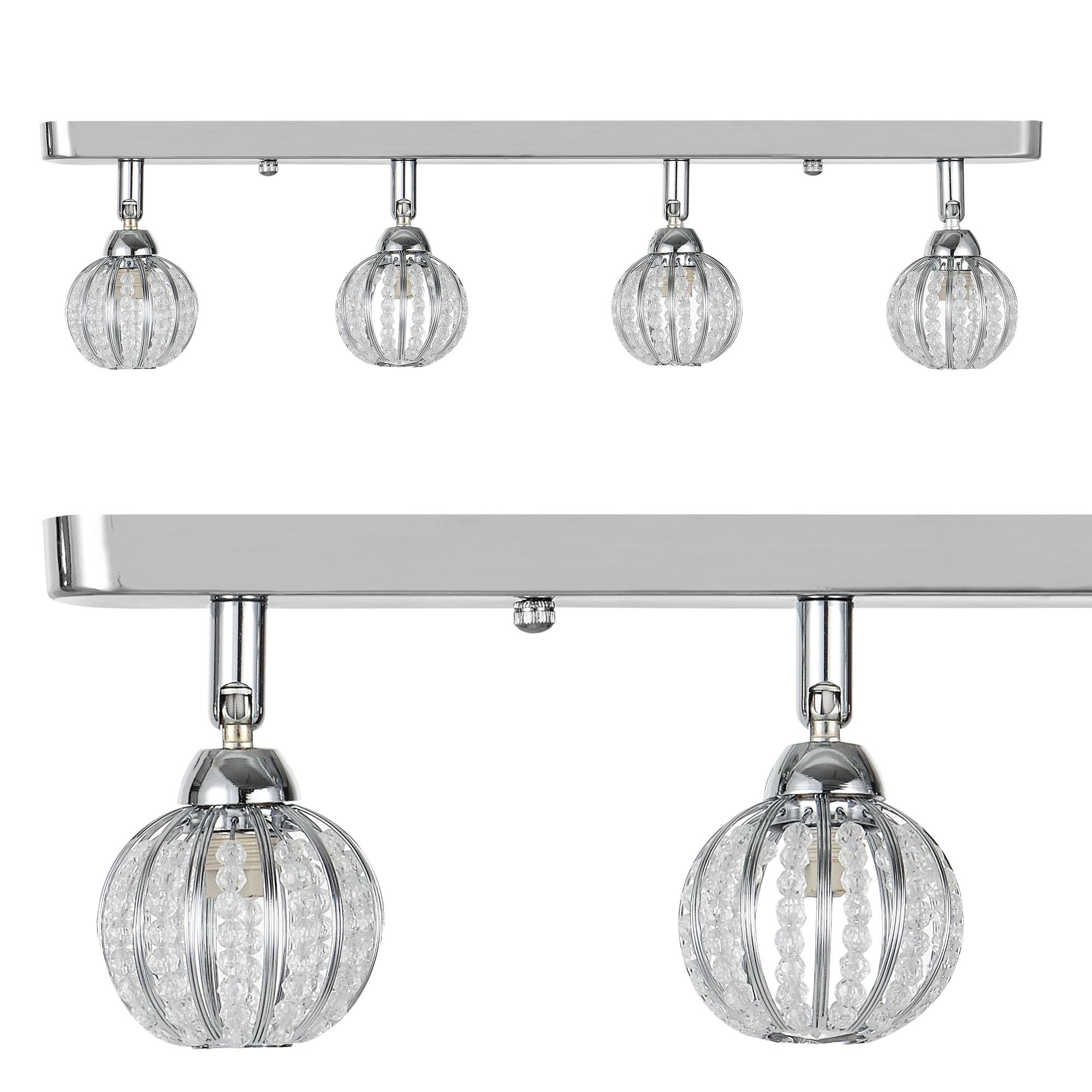 design decken leuchte deckenlampe beleuchtung modern l ster chrome ebay. Black Bedroom Furniture Sets. Home Design Ideas