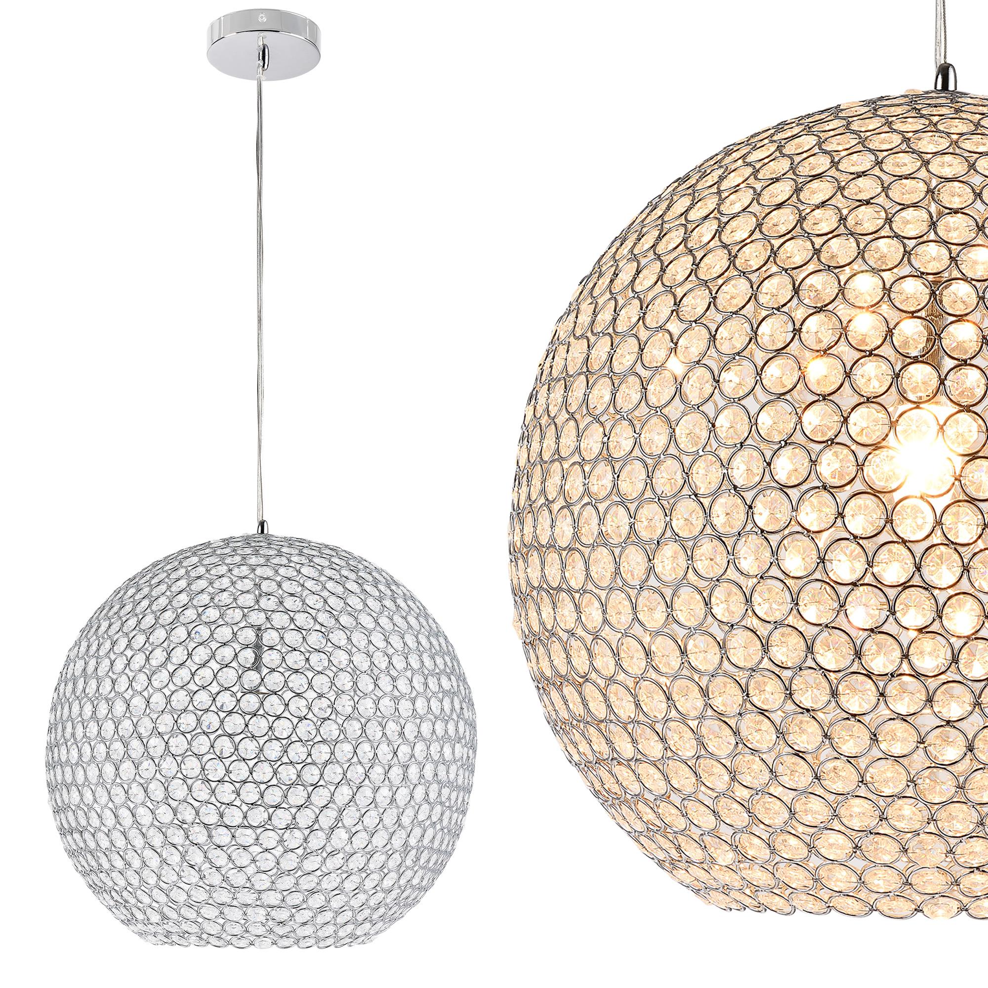 kristall deckenleuchte 38x38cm deckenlampe l ster zimmerlampe chrom ebay. Black Bedroom Furniture Sets. Home Design Ideas