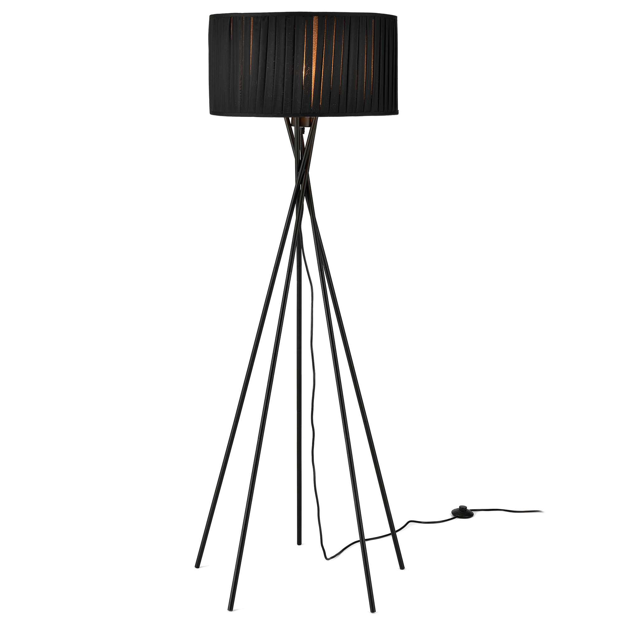 [lux.pro]® Lampa de podea eleganta – Black Mikado 1 x E 27 – 60W – negru