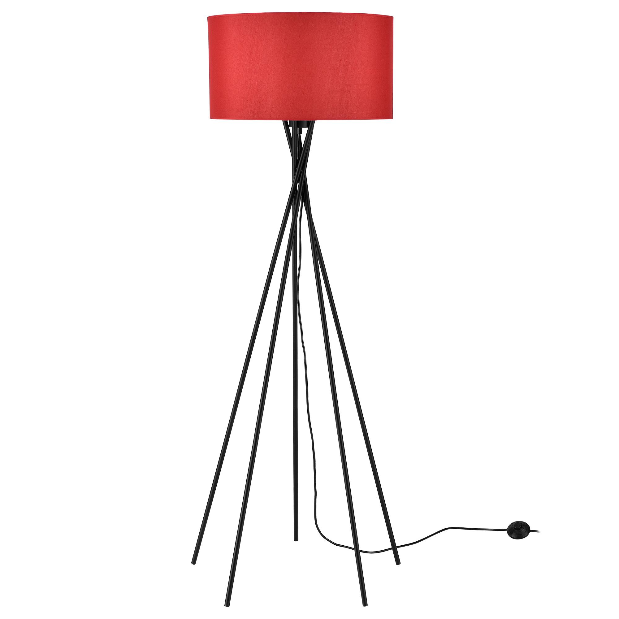 [lux.pro]® Lampa de podea eleganta – Red Mikado 1 x E 27 – 60W – rosu / negru