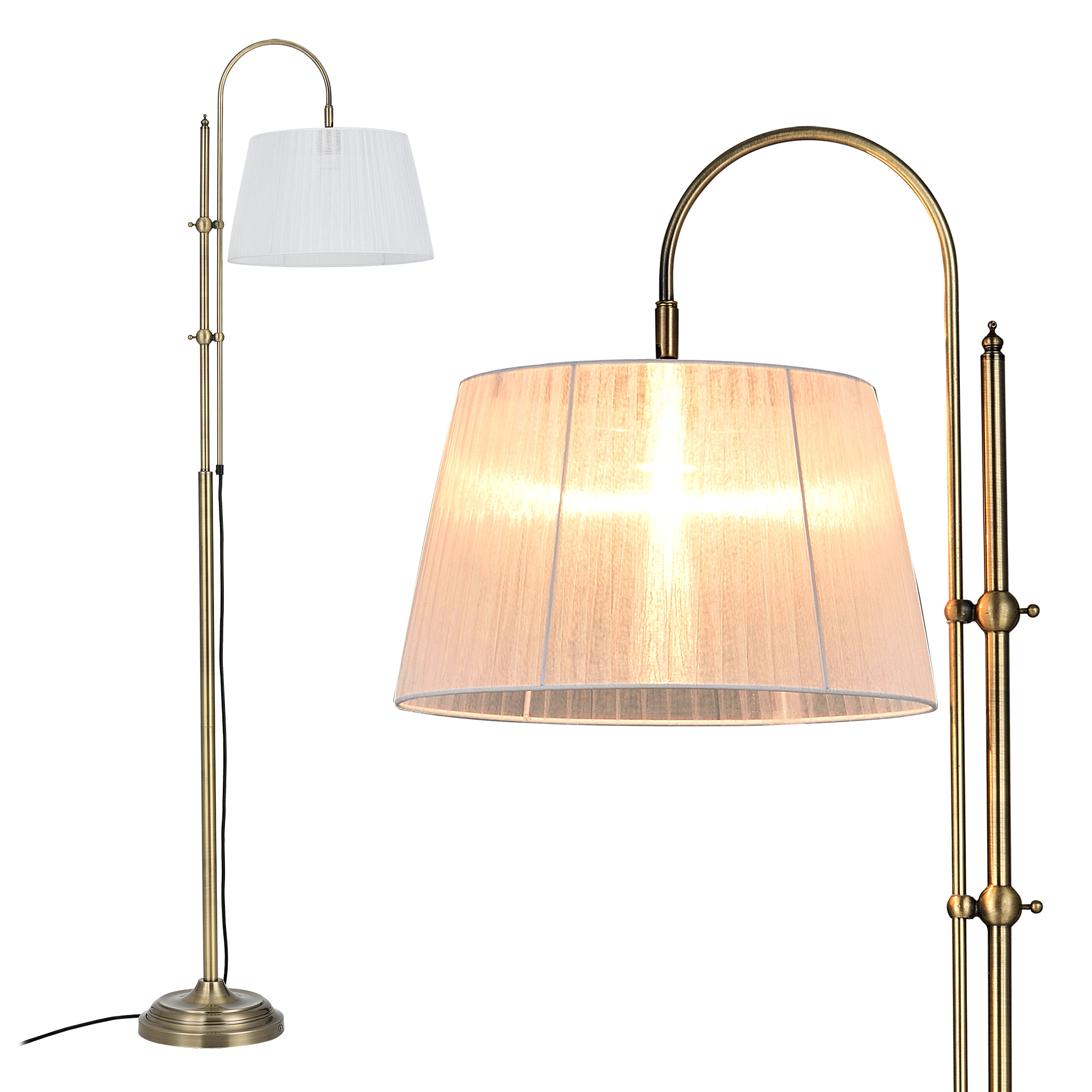 LuxproR Stehleuchte Hhe 170cm Stehlampe Standleuchte Bogenlampe Lampe