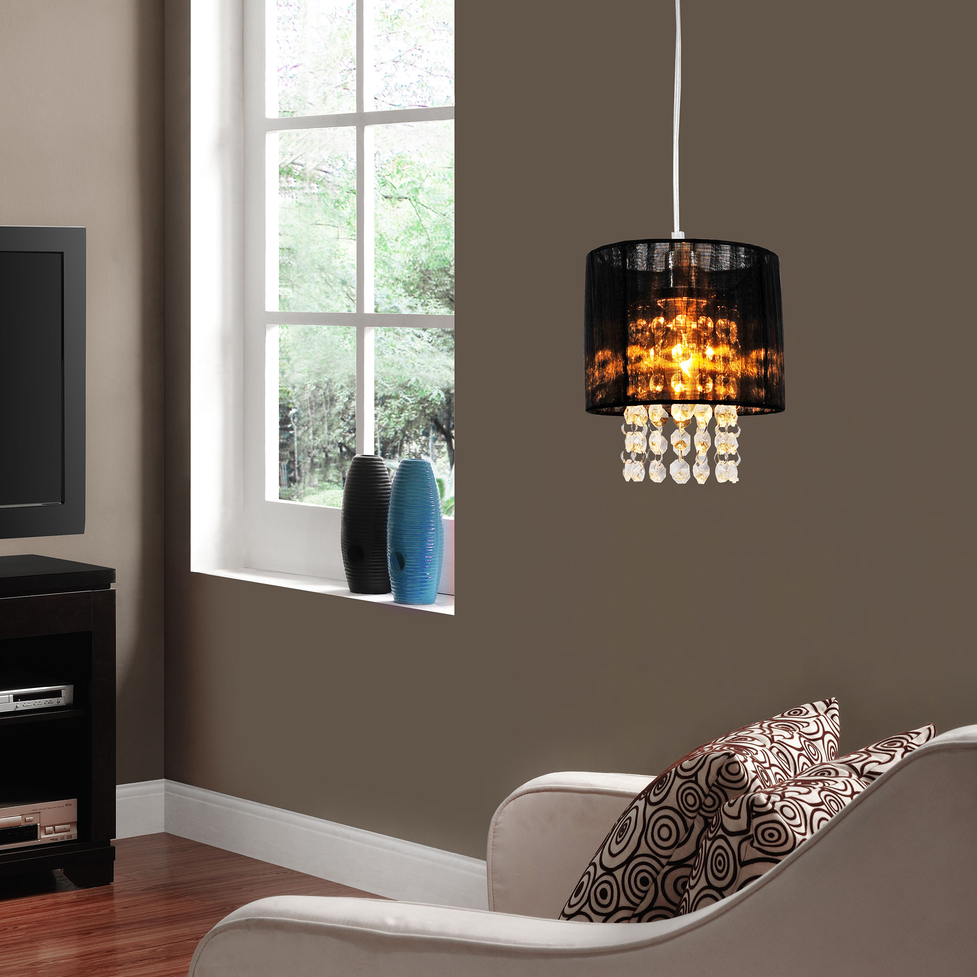 kristall h ngeleuchte 40 cm kugelleuchte deckenlampe zimmerlampe ebay. Black Bedroom Furniture Sets. Home Design Ideas