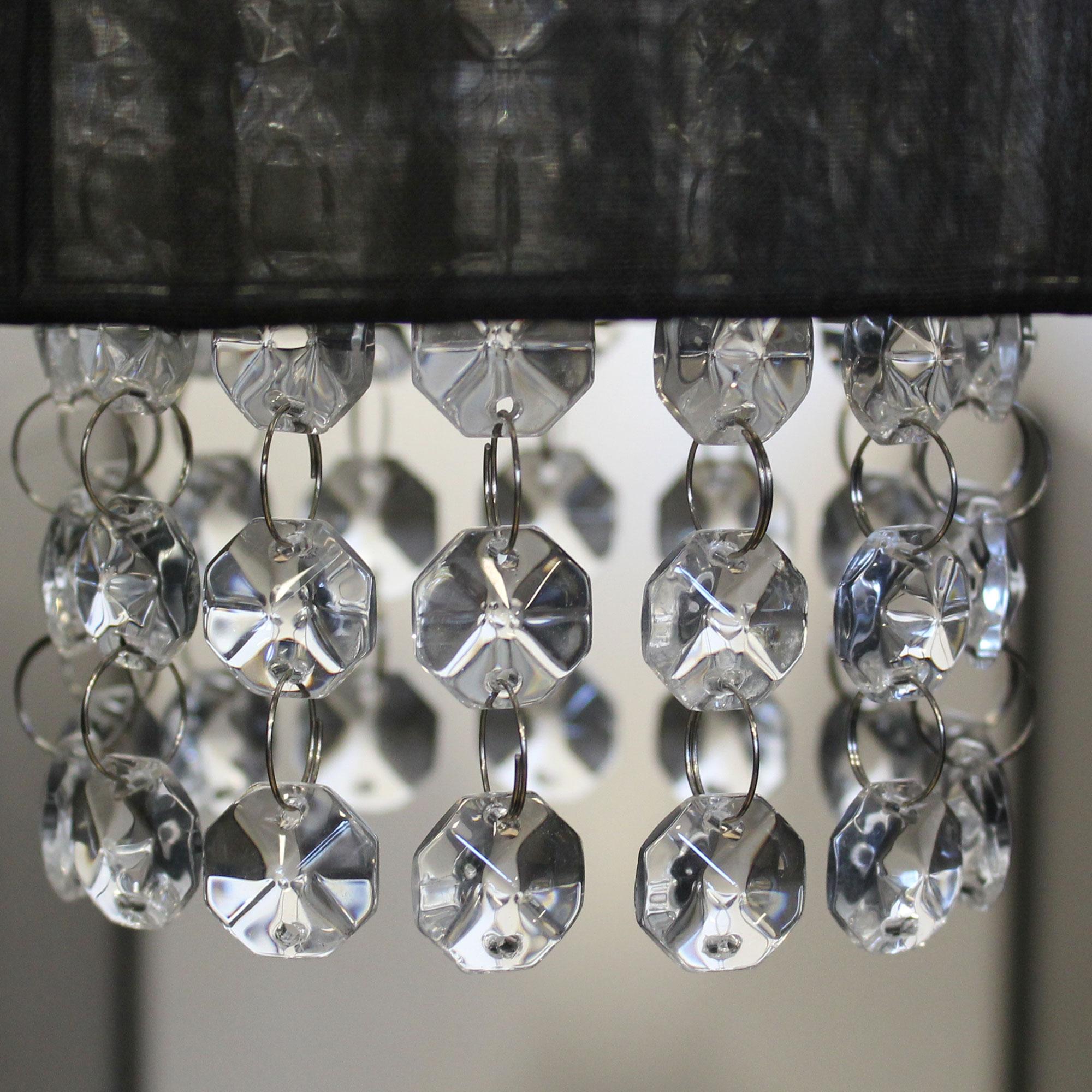 Deckenleuchte stoff   kristall Ø15,0cm hängeleuchte kronleuchter ...