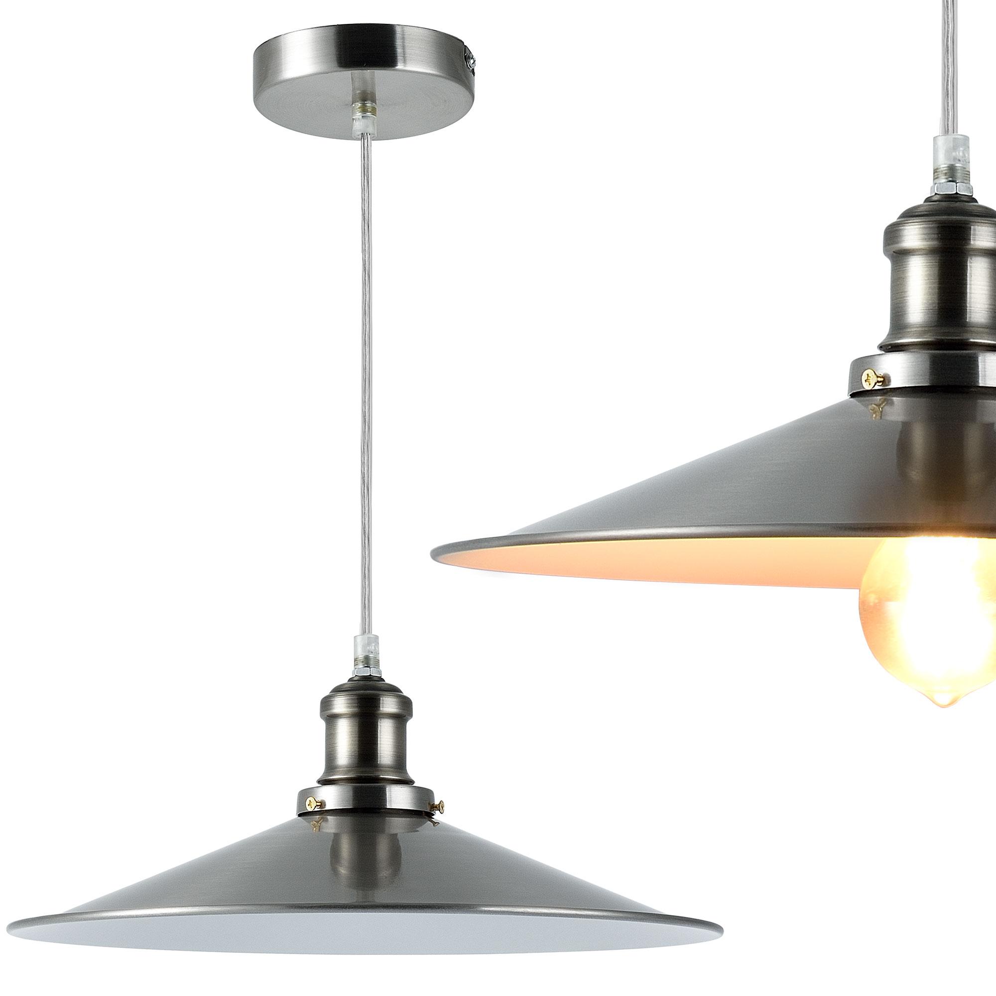 [lux.pro]® Dekoratívní designové závěsné svítidlo / stropní svítidlo - stříbrno-bílé (1 x E27)