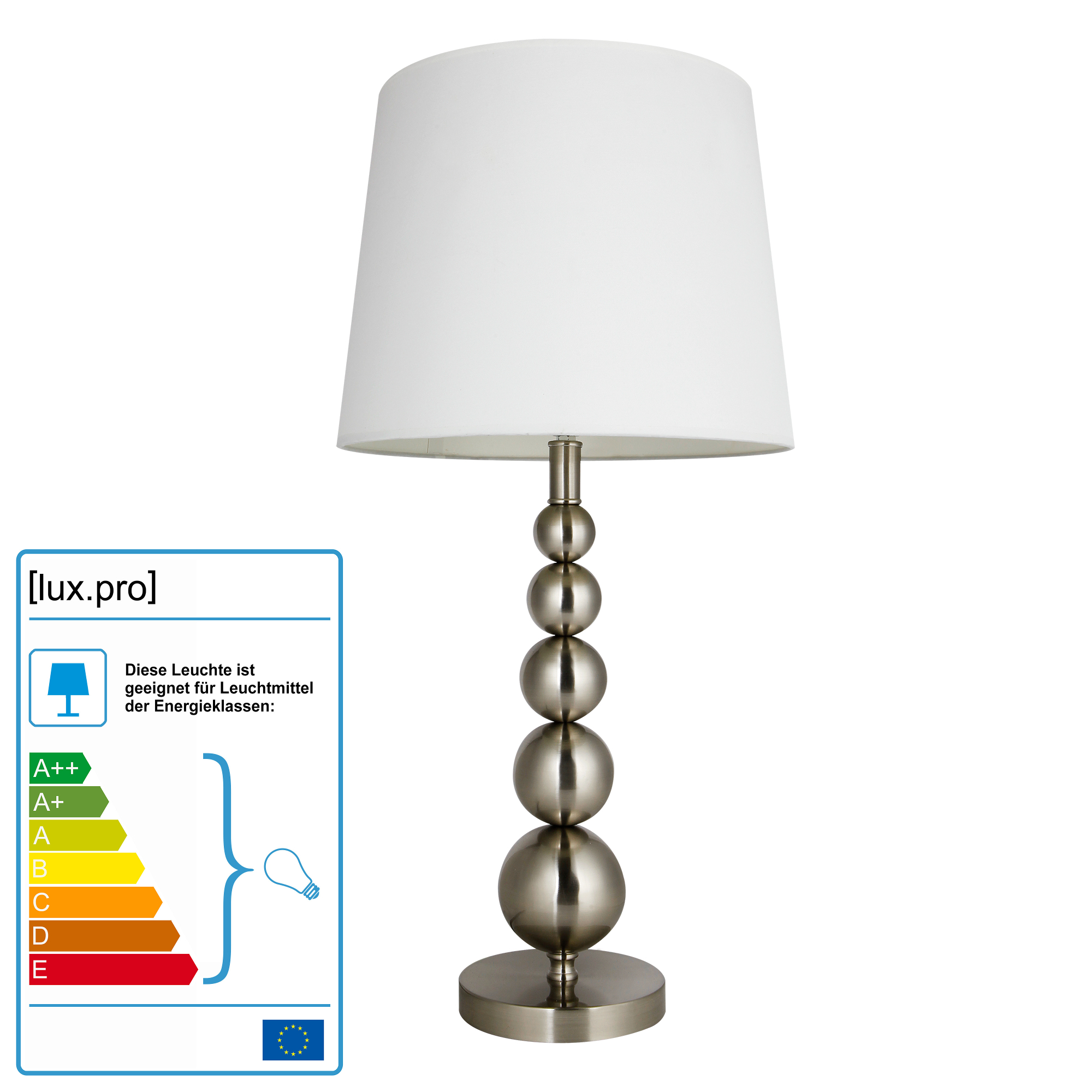 grand lampe de table h52cm 36cm luminaire blanc ebay. Black Bedroom Furniture Sets. Home Design Ideas