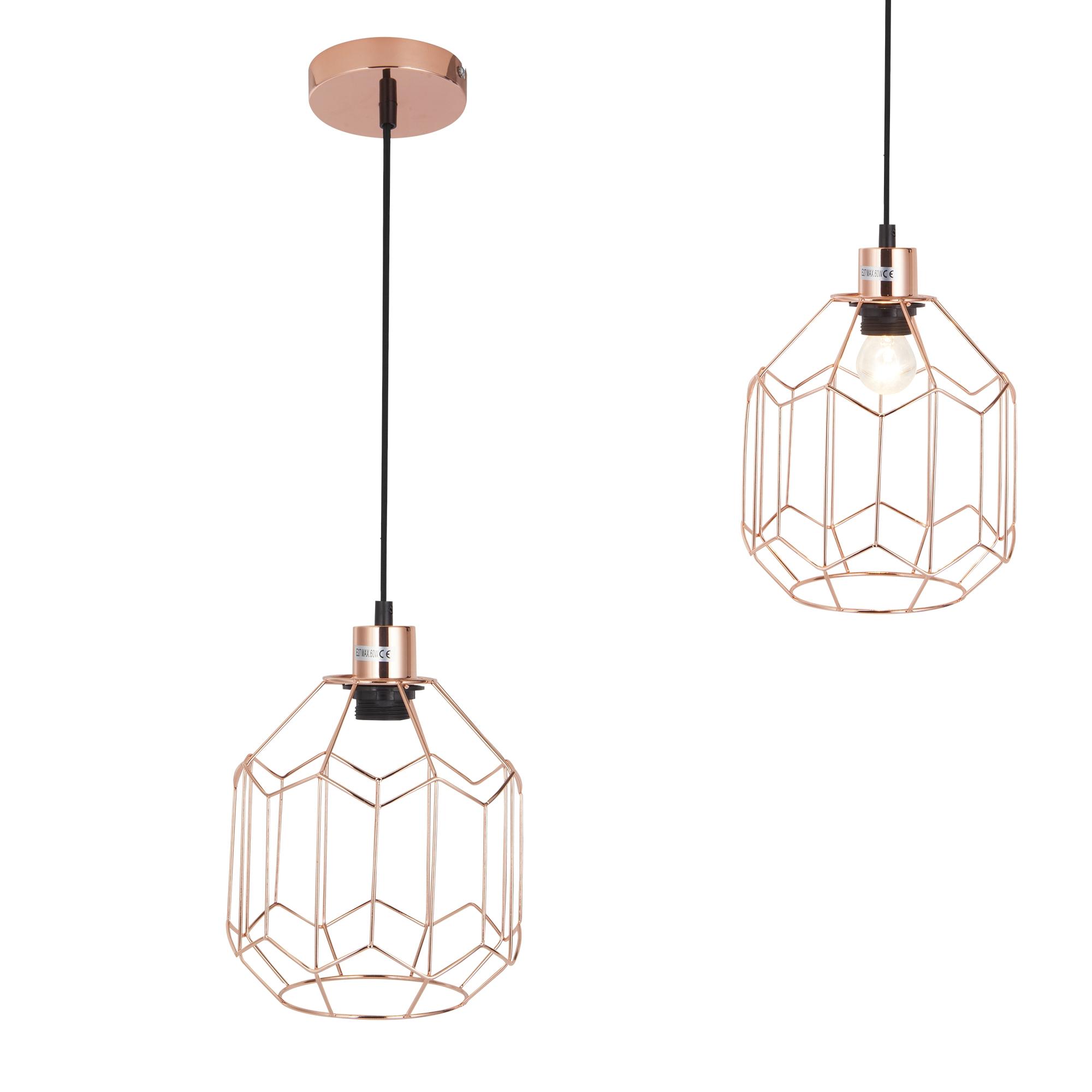 [lux.pro]® Dekoratívní designové závěsné svítidlo / stropní svítidlo - měděné (1 x E27)
