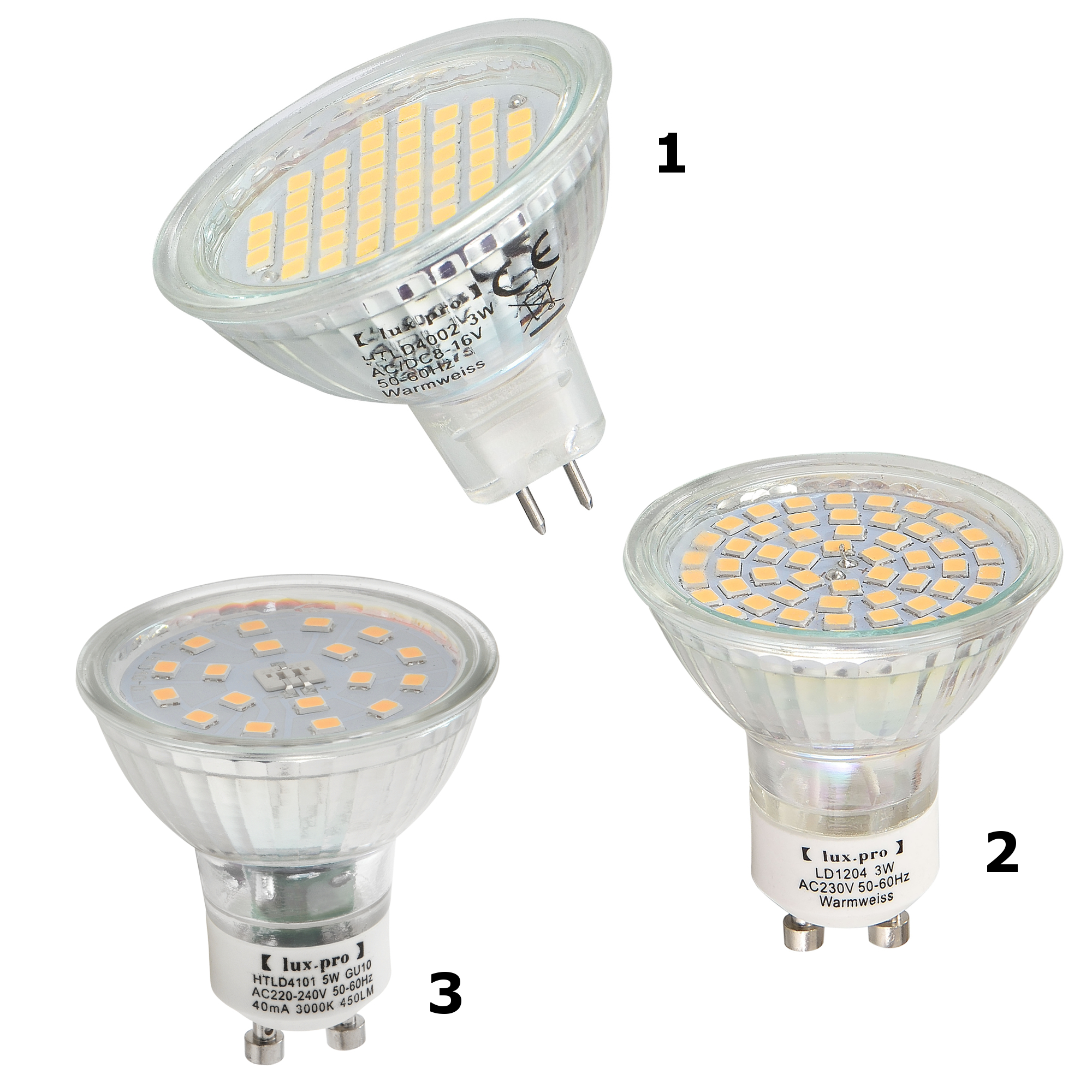 1x 5x 10x led spotlight gu5 3 gu10 warmwei leuchtmittel lampe smd ebay. Black Bedroom Furniture Sets. Home Design Ideas