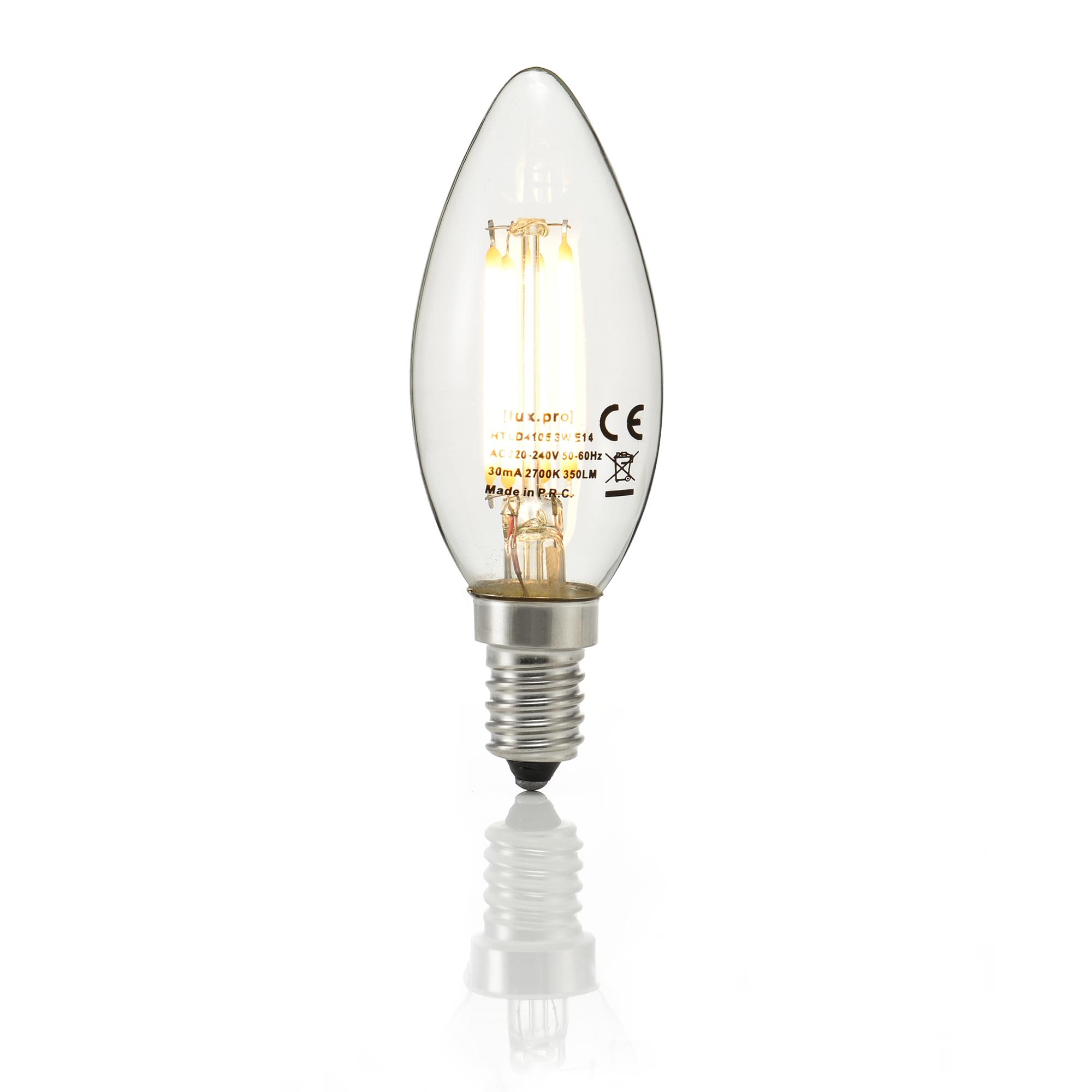 led e14 e27 warmwei filament leuchtmittel 2700k kerze gl hlampe birne ebay. Black Bedroom Furniture Sets. Home Design Ideas