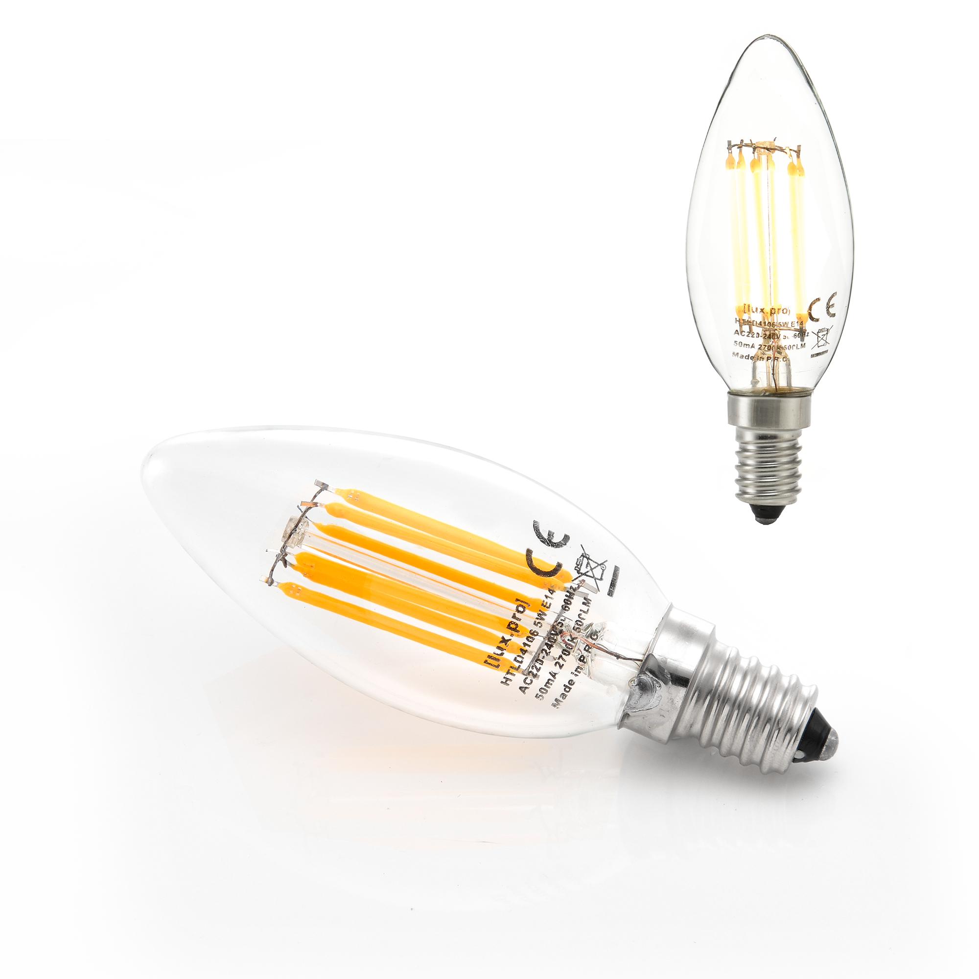 10x led e14 warmwei filament leuchtmittel. Black Bedroom Furniture Sets. Home Design Ideas