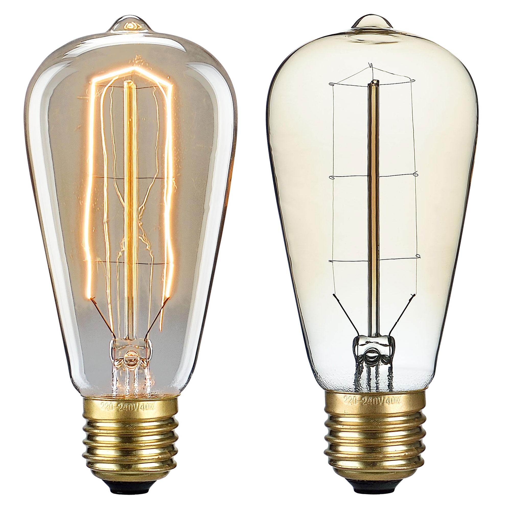 1x e27 vintage gl hlampe 64x140mm gl hbirne lampe retro edison birne ebay. Black Bedroom Furniture Sets. Home Design Ideas