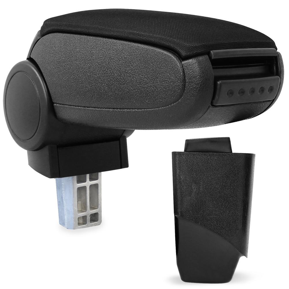 Středová loketní opěrka - vhodná pro: Peugeot 206 / 206 CC (Rok výroby od 1998) - Látkový potah (plochá tkanina) - Černá s černými švy