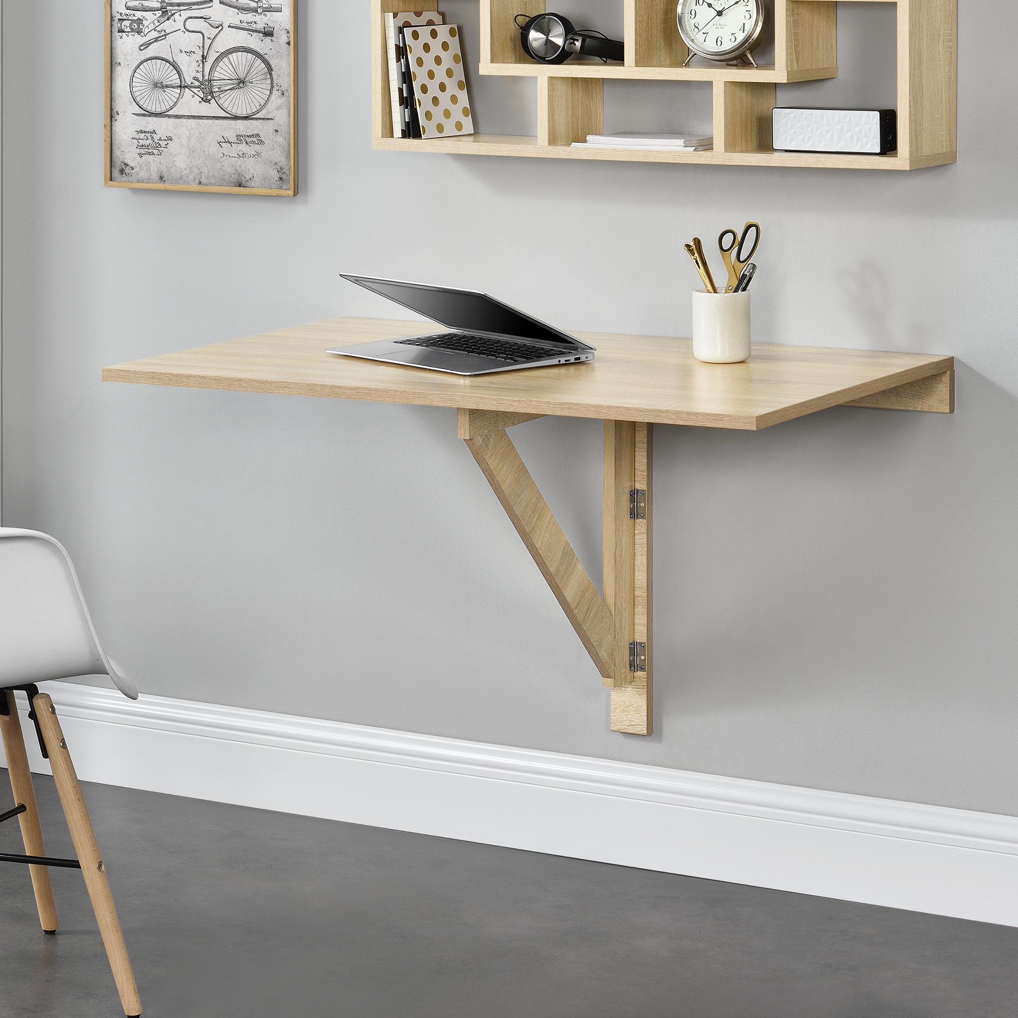 Detalles de [en.casa]® Mesa Montada en la pared Abatible Plegable Mesa de  cocina Escritorio