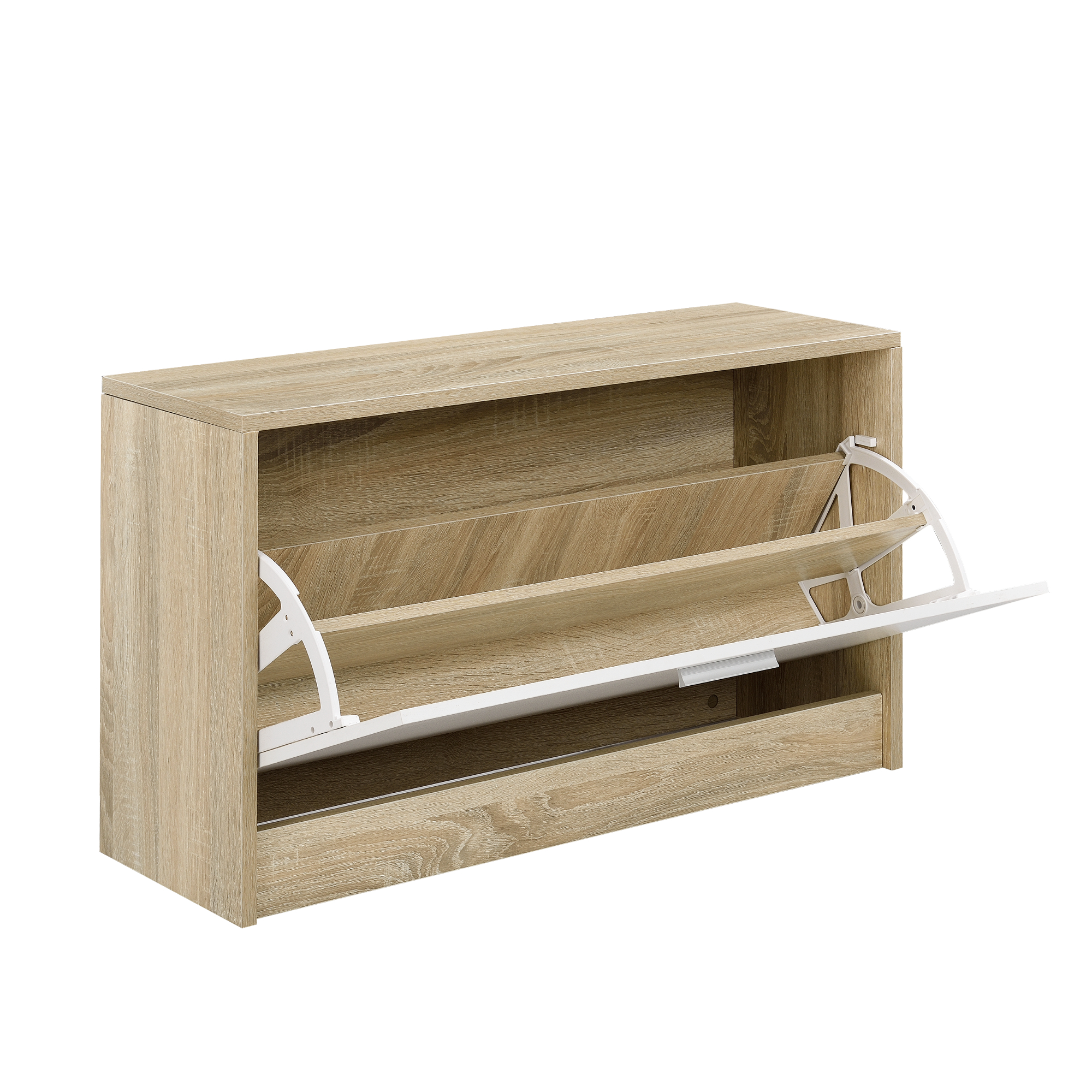 Garderobenset Garderobe Schuhschrank Spiegel Paneel Schuhkipper Set