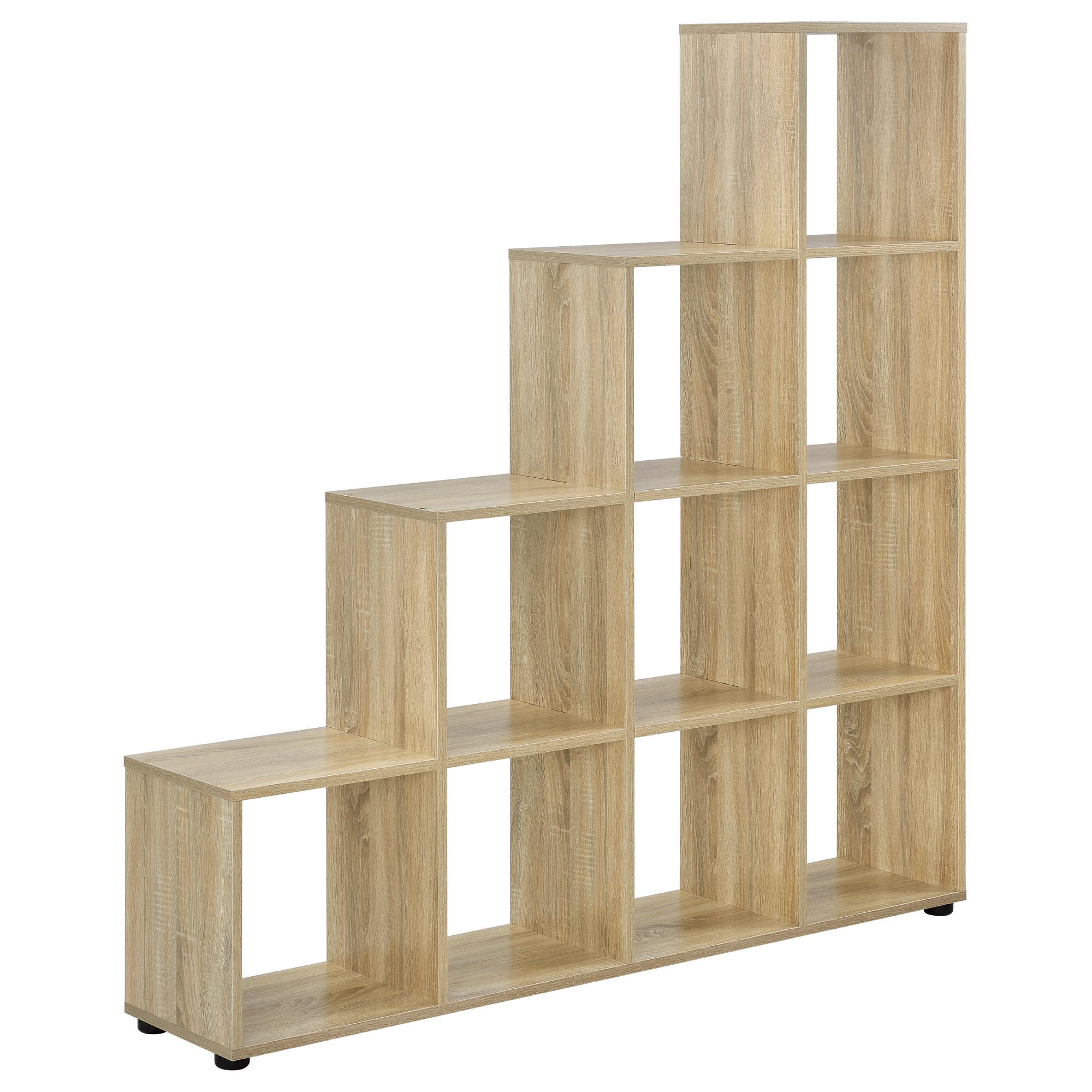 Etagere Murale En Escalier détails sur [en.casa]® Étagère escalier avec 10 casiers mdf mélaminé 138 x  142 x 29cm bois