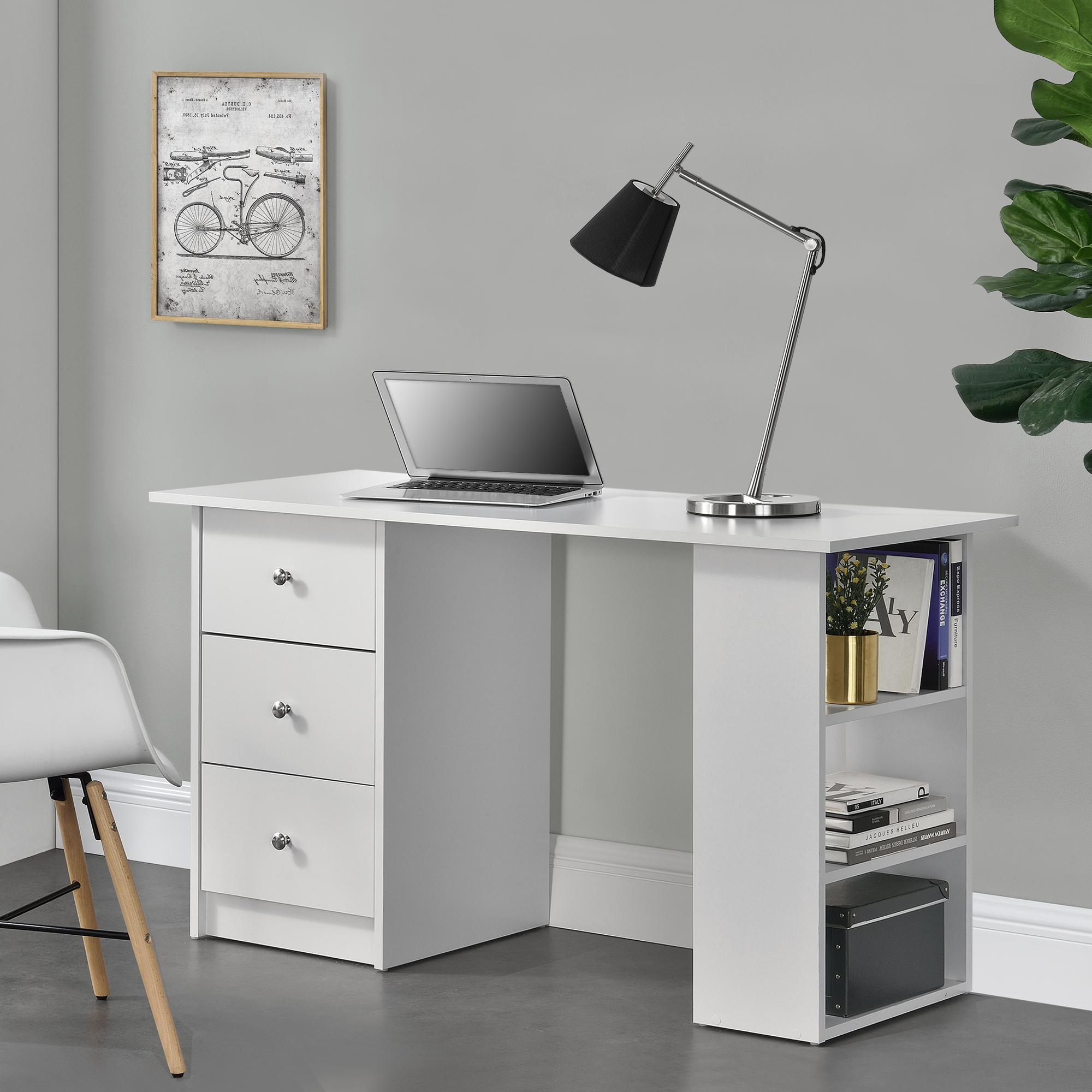 Scrivania 120x50x72cm tavolo da ufficio con cassetti for Scaffale da scrivania