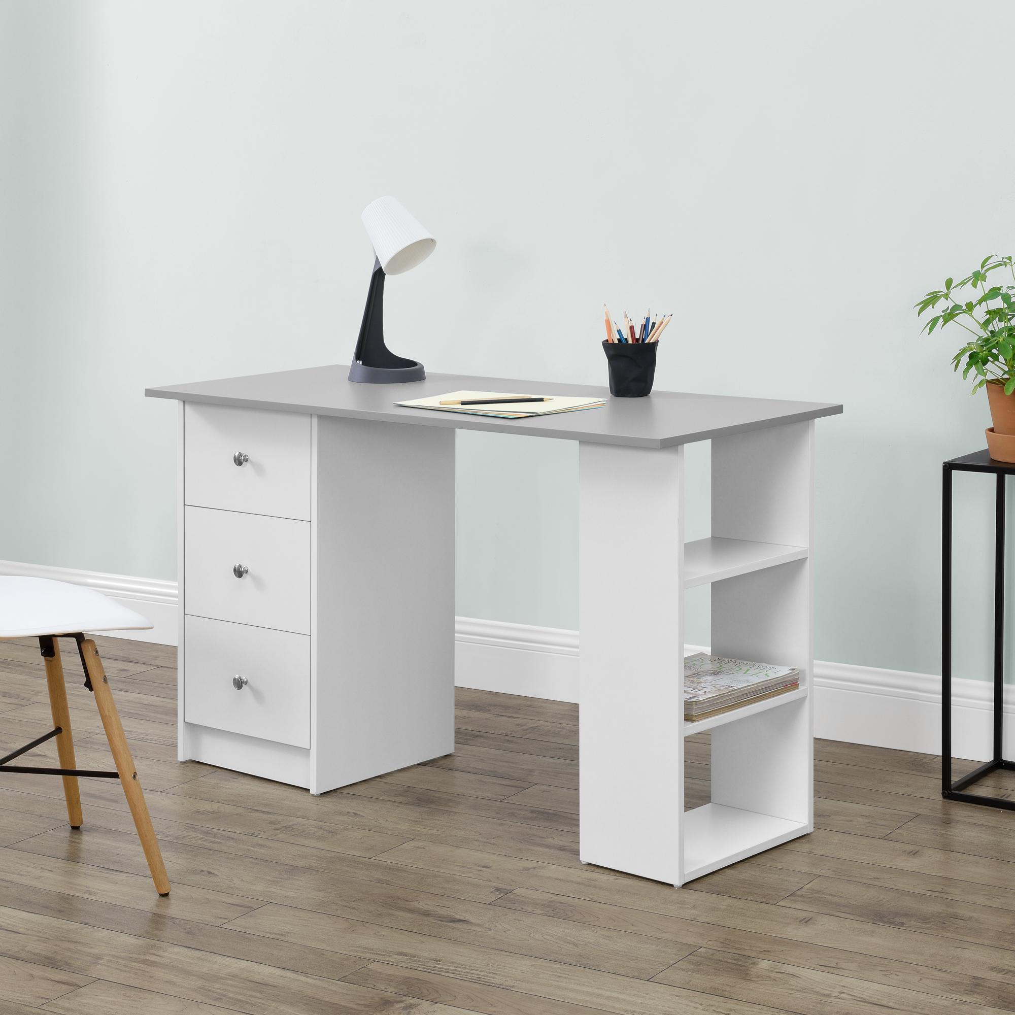 Schreibtisch Weiß Schubladen 2021
