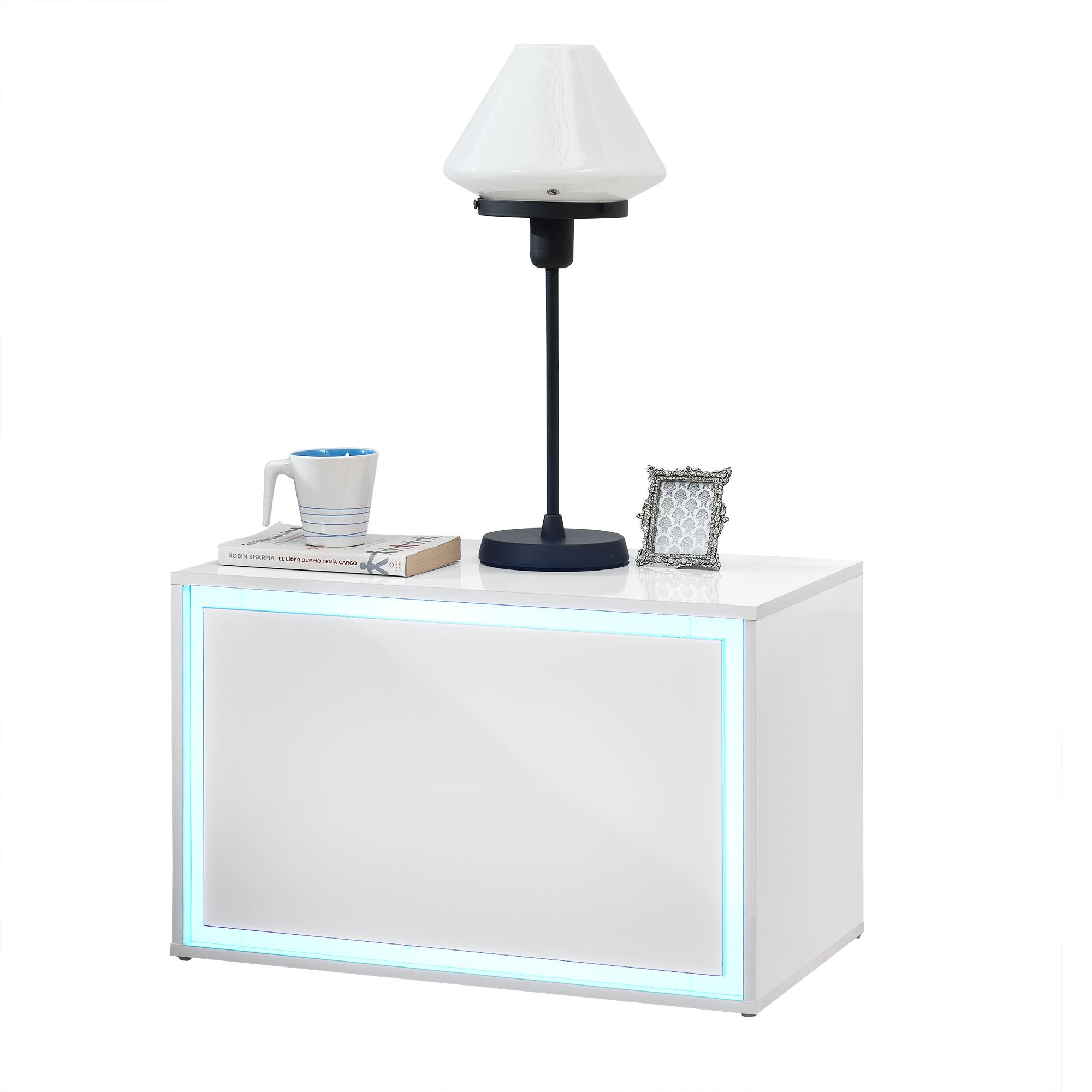 led table de chevet armoire nuit tiroir commode. Black Bedroom Furniture Sets. Home Design Ideas