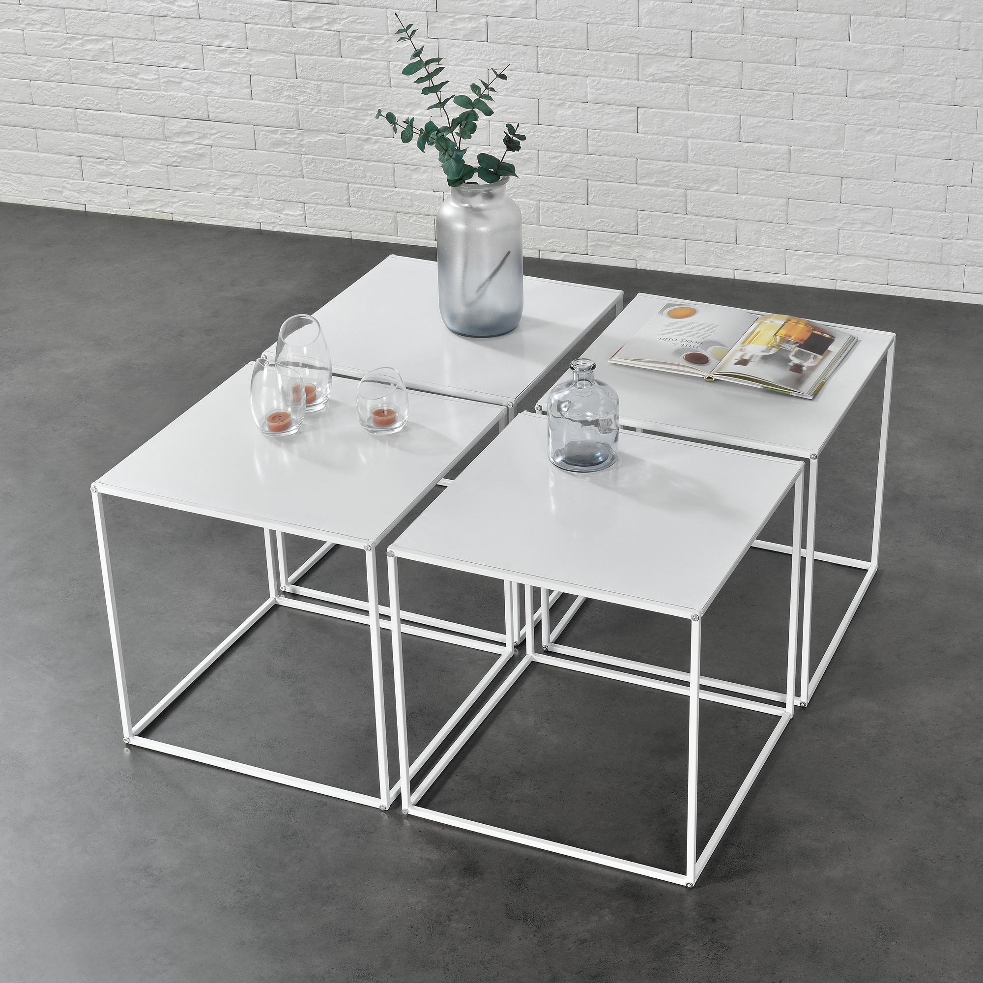 4x Table Basse Table Dappoint Table De Salon Table Table Basse Set