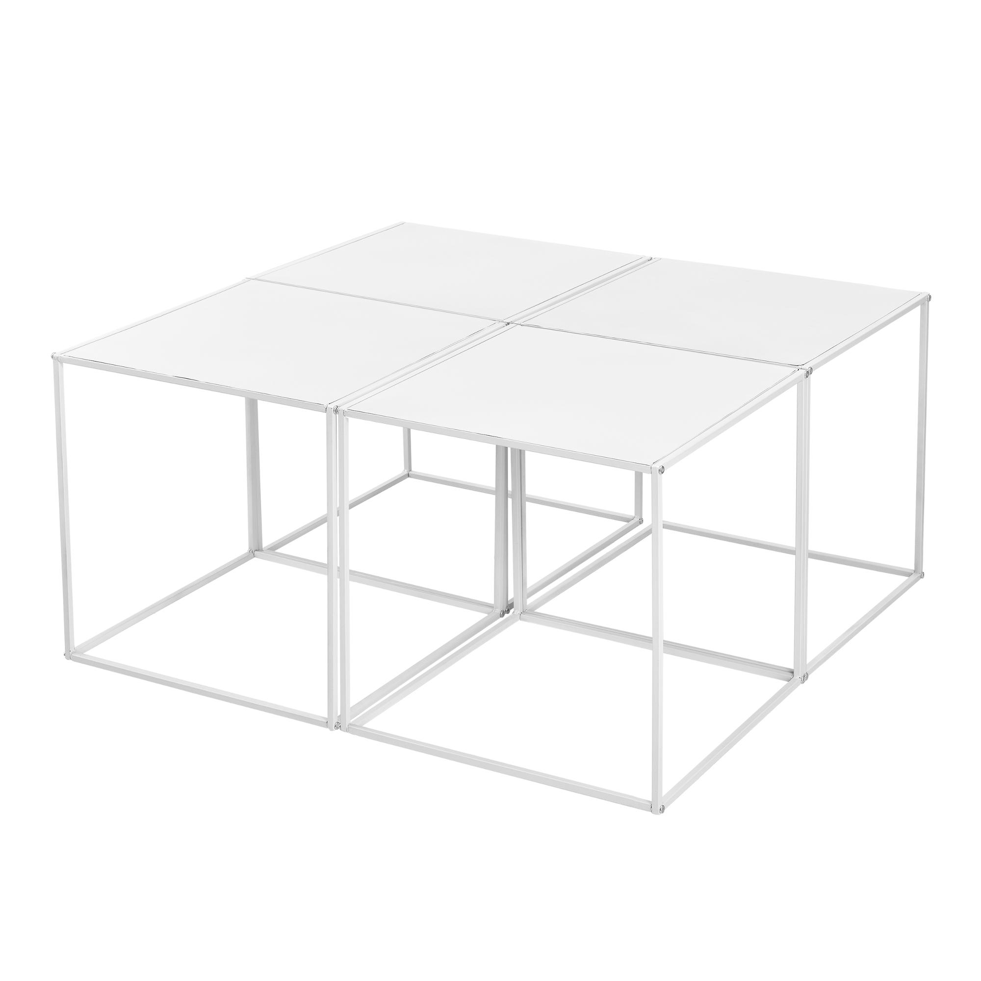 4x couchtisch beistelltisch wohnzimmertisch tisch kaffeetisch set wei ebay. Black Bedroom Furniture Sets. Home Design Ideas