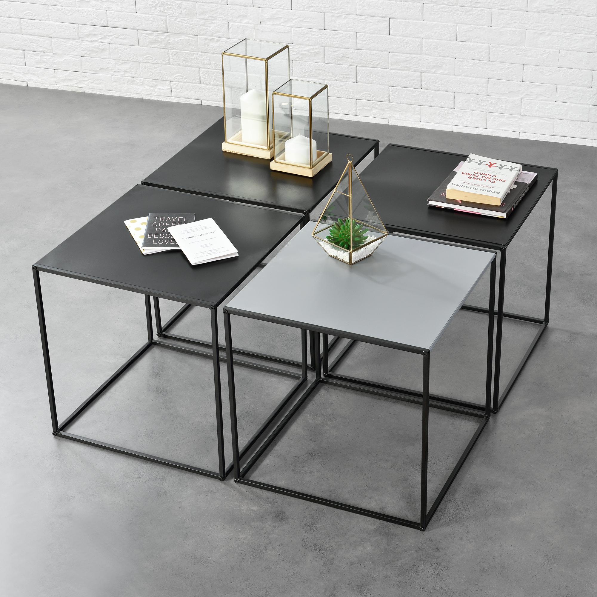 Détails Sur En Casa Table Basse D Appoint De Salon Jeu 2 4 Set