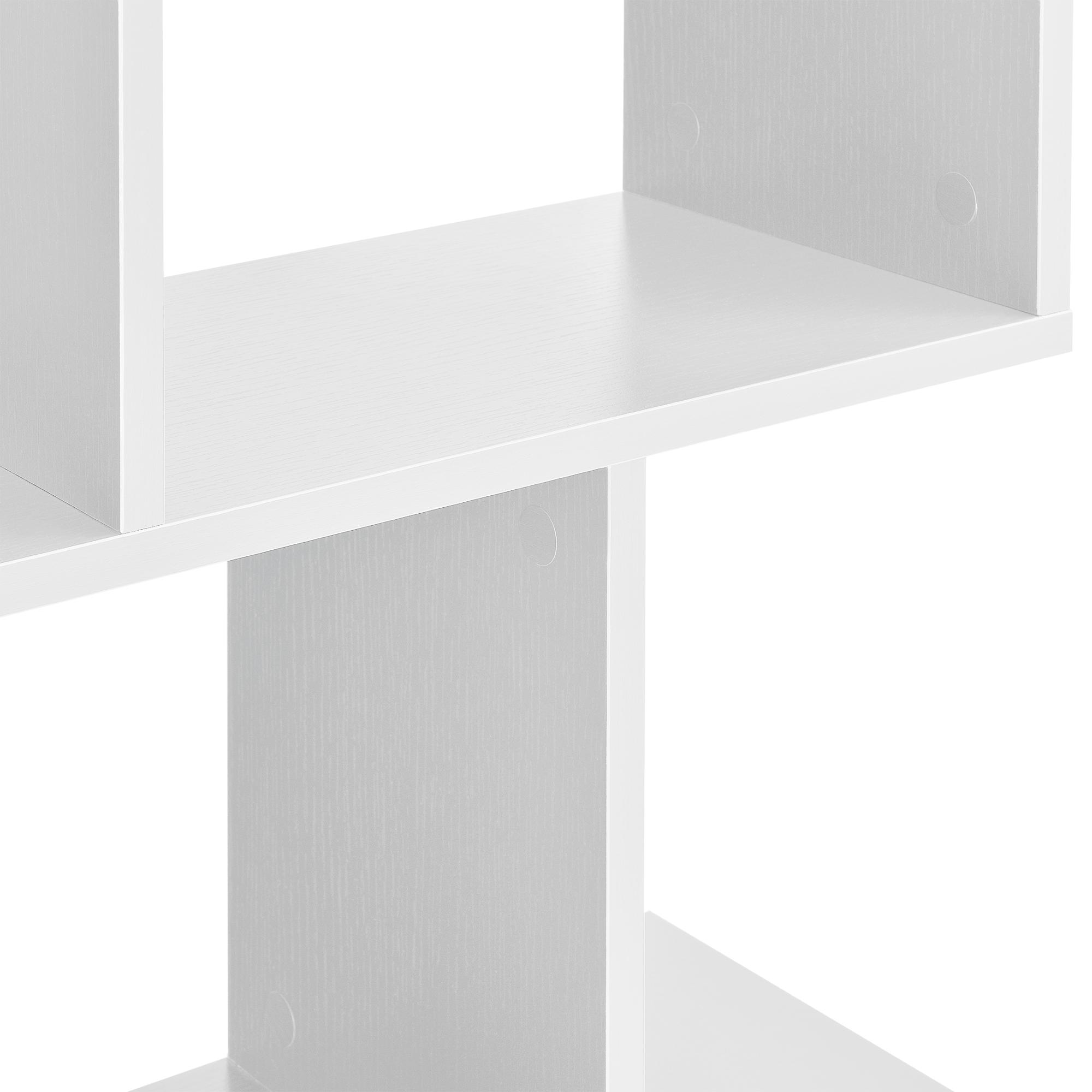 Détails sur en.casa Bibliothèque pour Salon Meuble de Rangement MDF 130 x  60 x 24 cm Blanc