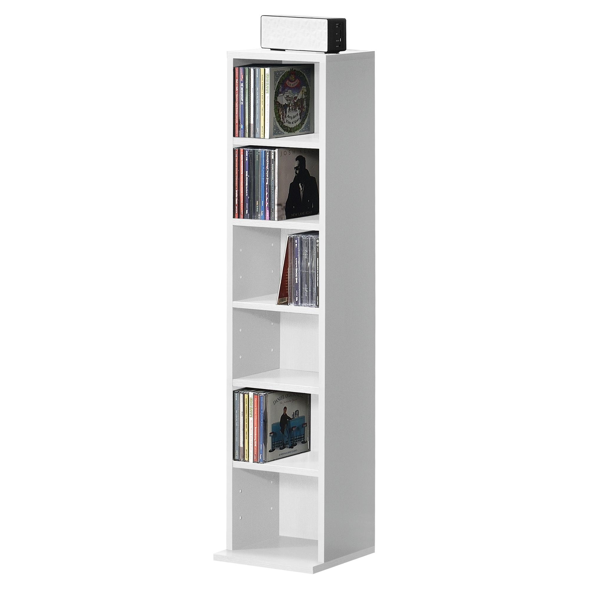 Details zu en.casa Bücherregal CD Regal Standregal Regal Aufbewahrung 6  Fächer Weiß
