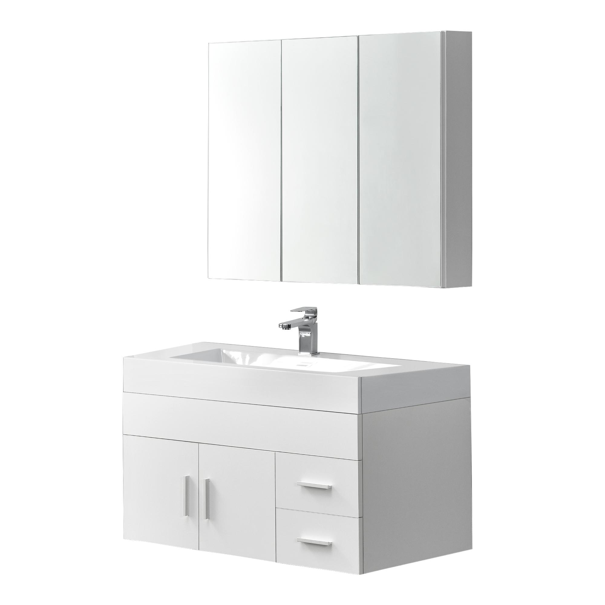 mobili da bagno set armadietto a specchio waschbecken